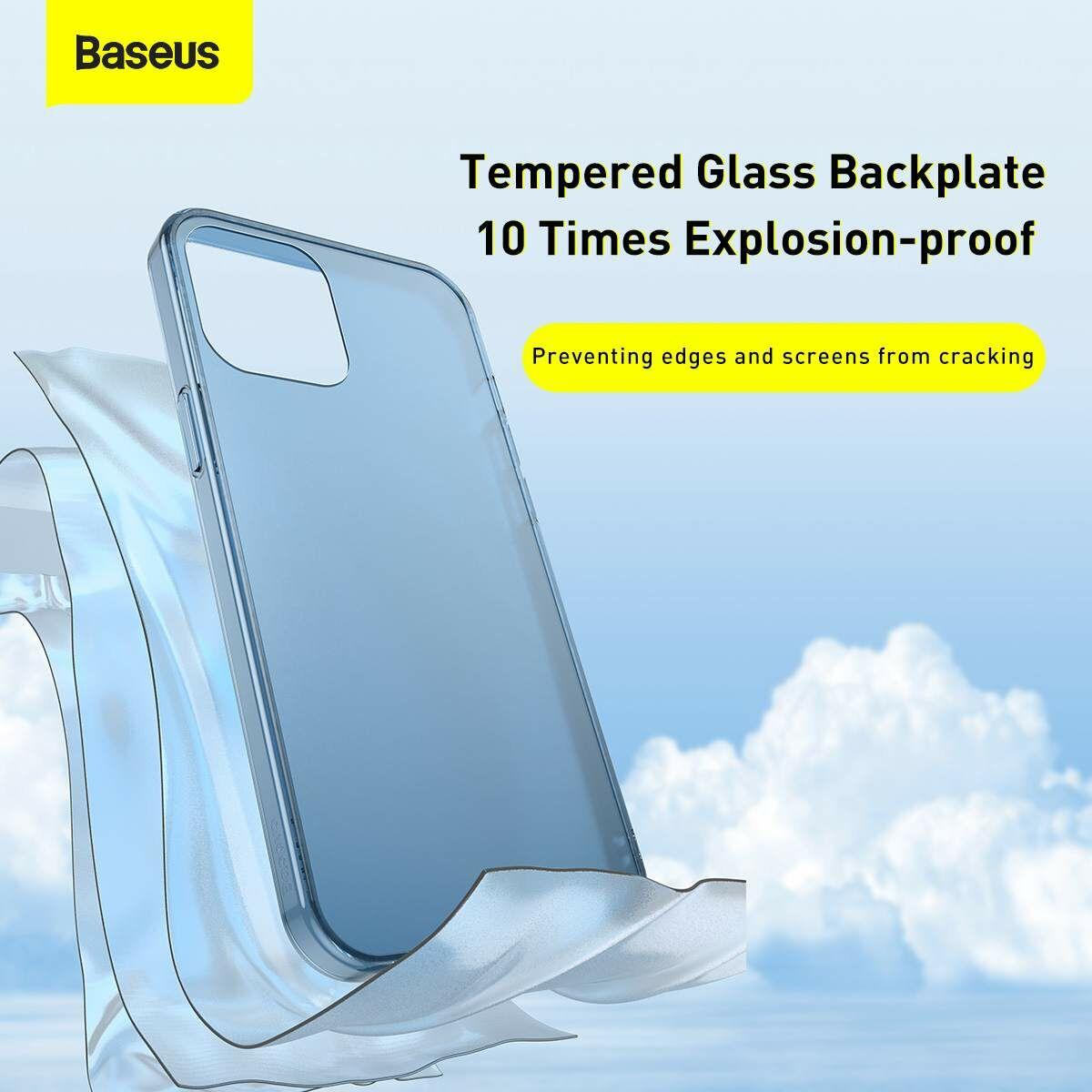 Baseus iPhone 12 Pro Max tok, Frosted Glass, sötétzöld (WIAPIPH67N-WS06)