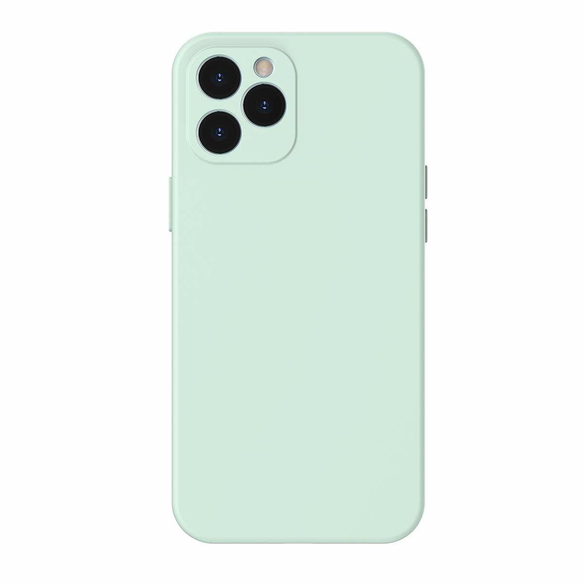 Baseus iPhone 12 Pro Max, Liquid Sillica Gel, menta zöld (WIAPIPH67N-YT6B)