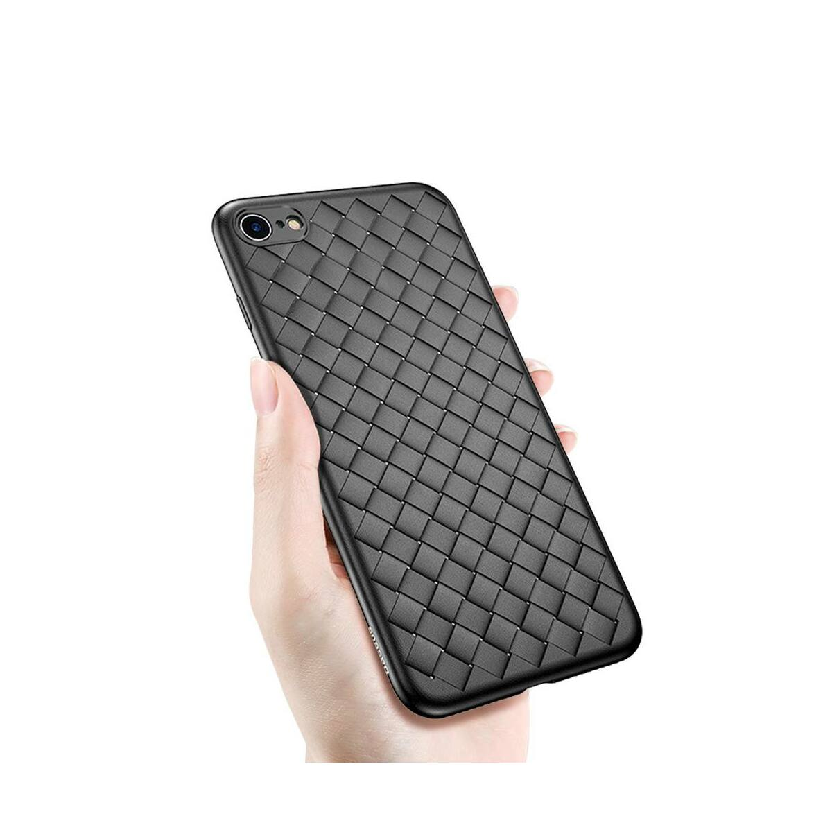 Baseus iPhone 6/6s Plus tok, BV Weaving, fekete (WIAPIPH6SP-BV01)