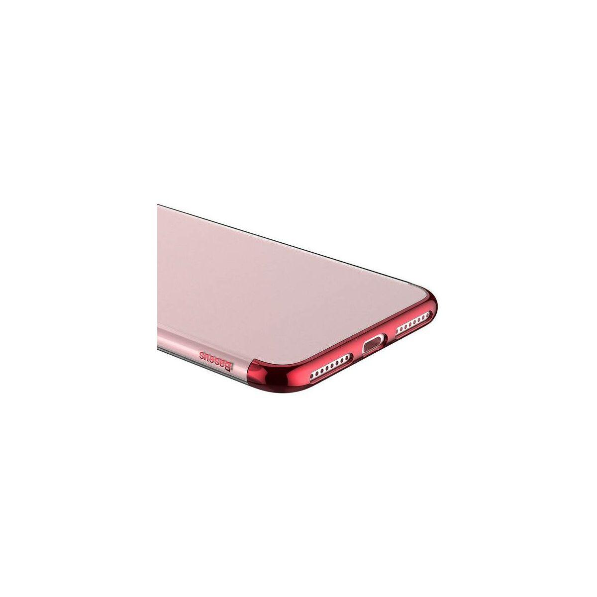 Baseus iPhone 8/7 Plus tok, Glitter, piros (WIAPIPH7P-DW09)