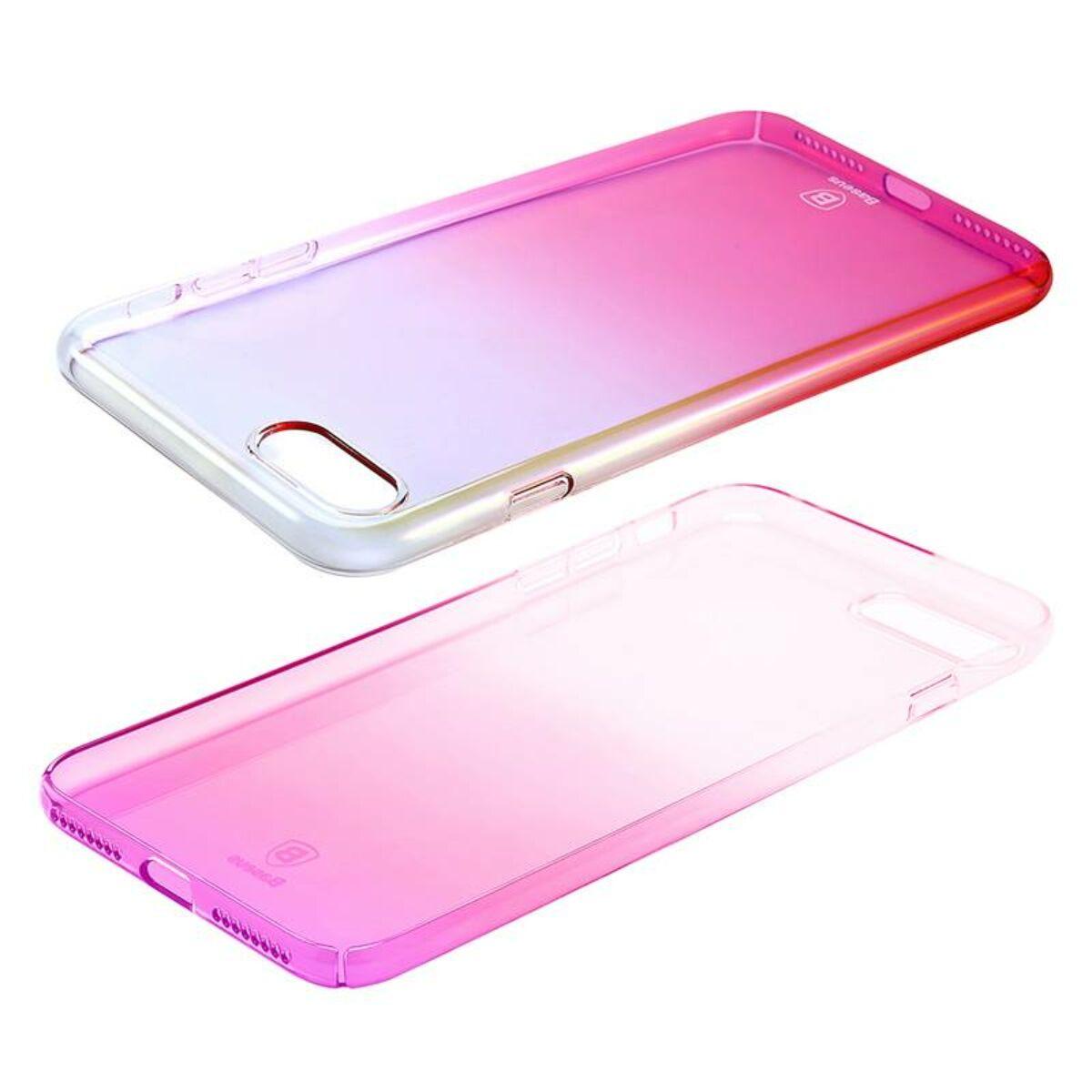 Baseus iPhone 8/7 Plus tok, Glaze, rózsaszín (WIAPIPH7P-GC04)