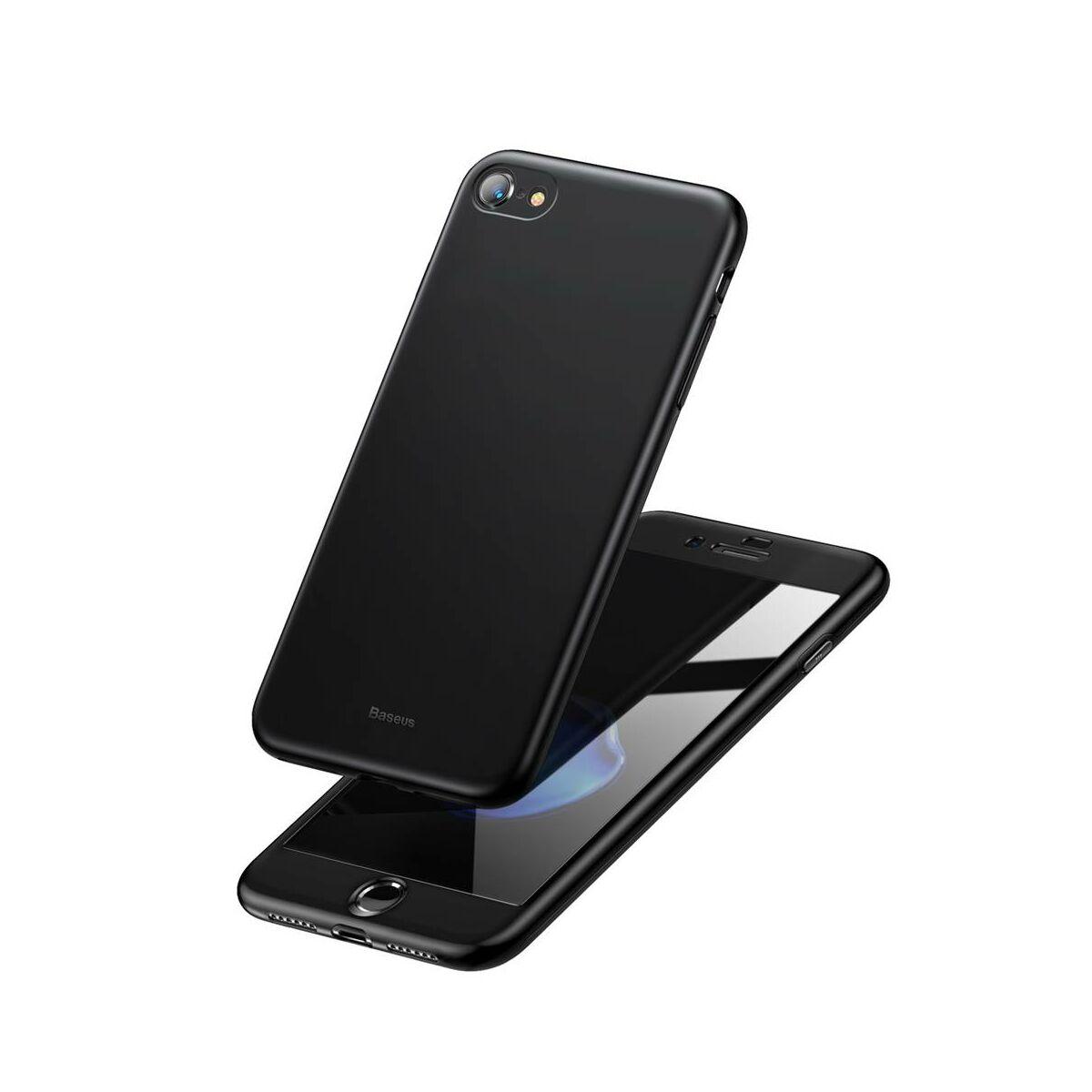 Baseus iPhone 8/7 tok, Fully védő, fekete (WIAPIPH8N-BA01)