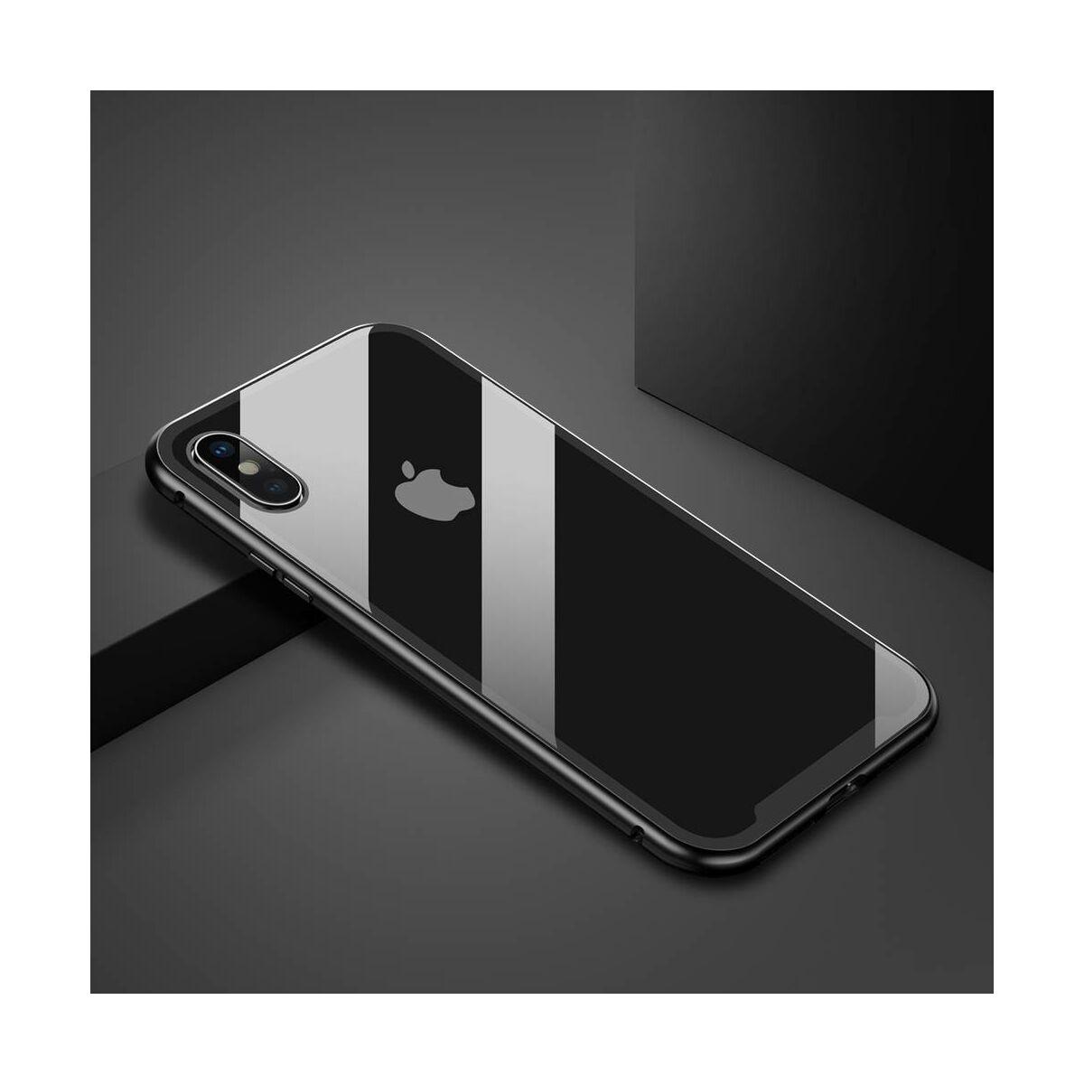 Baseus iPhone X/XS tok, Magnetite hardware, mágneses, fekete (WIAPIPHX-CS01)