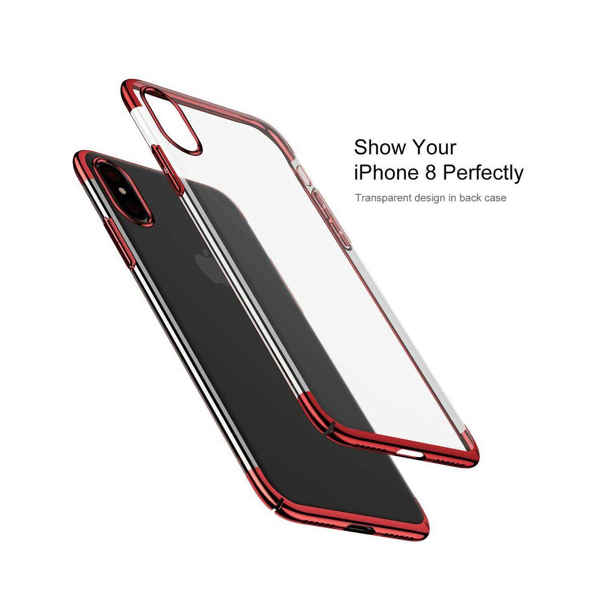Baseus iPhone X/XS tok, Glitter, piros (WIAPIPHX-DW09)