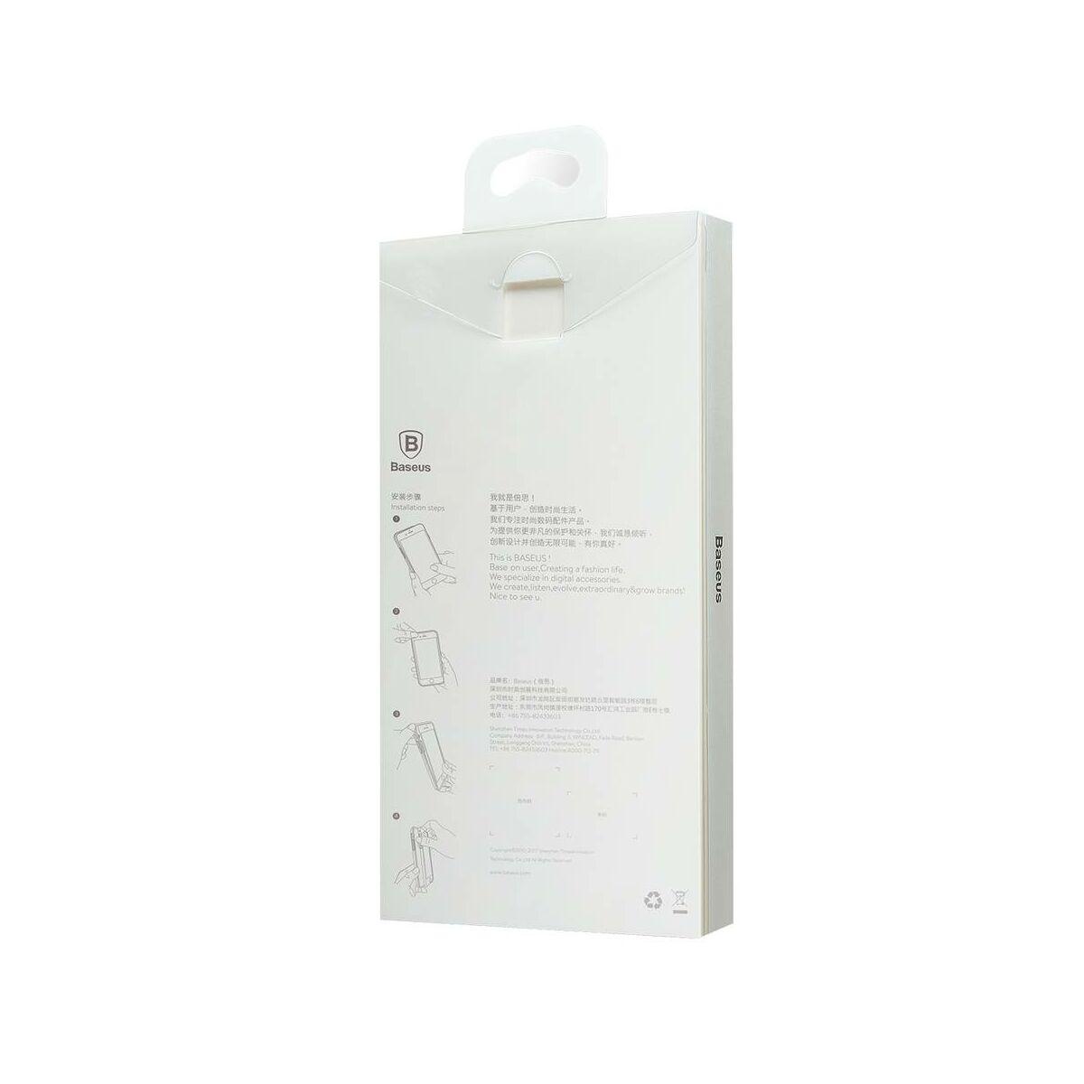 Baseus iPhone X/XS tok, Aurora, átlátszó, fekete (WIAPIPHX-JG01)