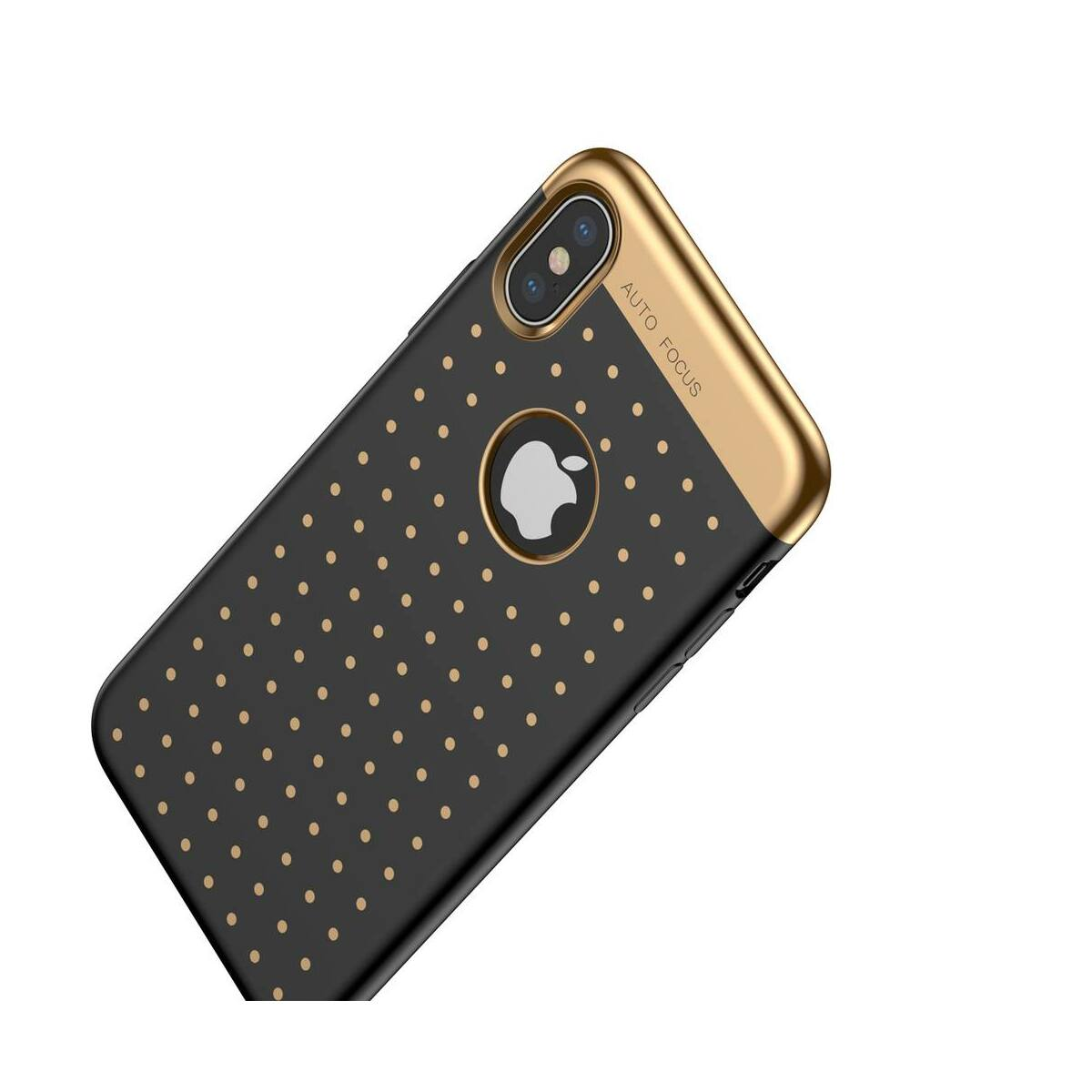 Baseus iPhone X/XS tok, Star lighting, fekete (WIAPIPHX-ST01)