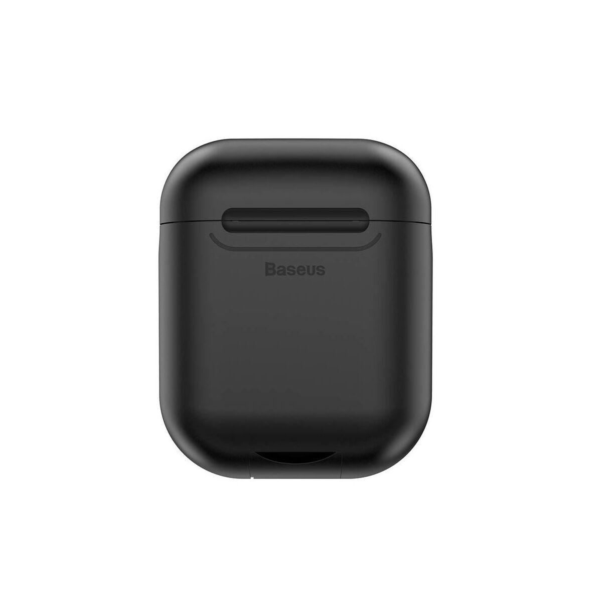 Baseus vezeték nélküli töltő, Airpodok-hoz, fekete (WIAPPOD-01)