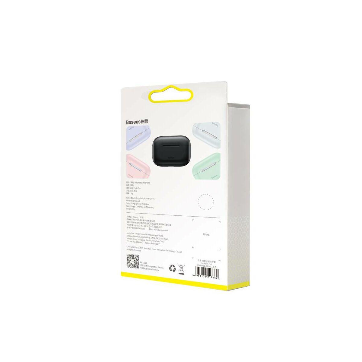 Baseus Airpods Pro tok, Super Thin szilikon, szuper vékony anyagból, fekete (WIAPPOD-ABZ01)