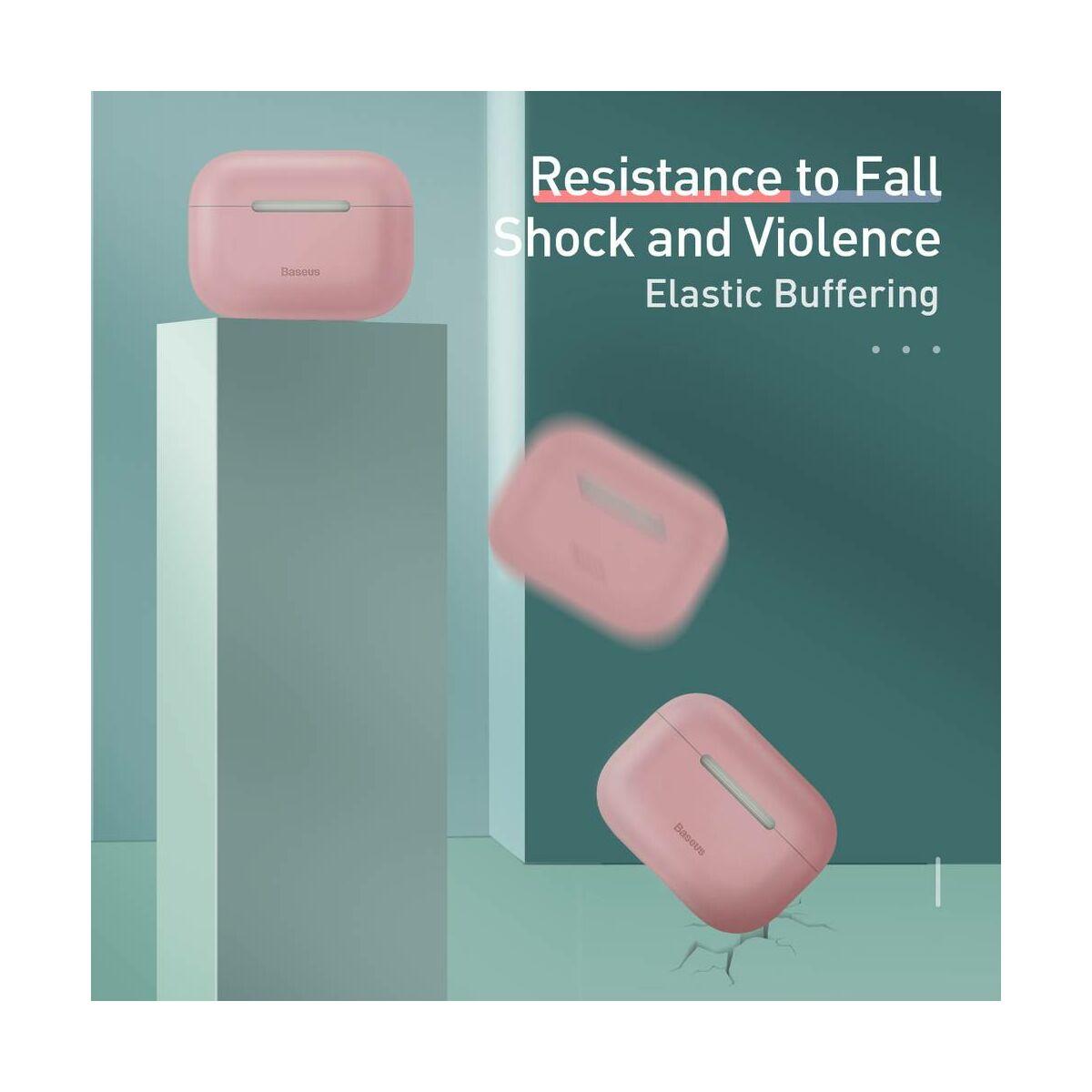 Baseus Airpods Pro tok, Super Thin szilikon, szuper vékony anyagból, rózsaszín (WIAPPOD-ABZ04)
