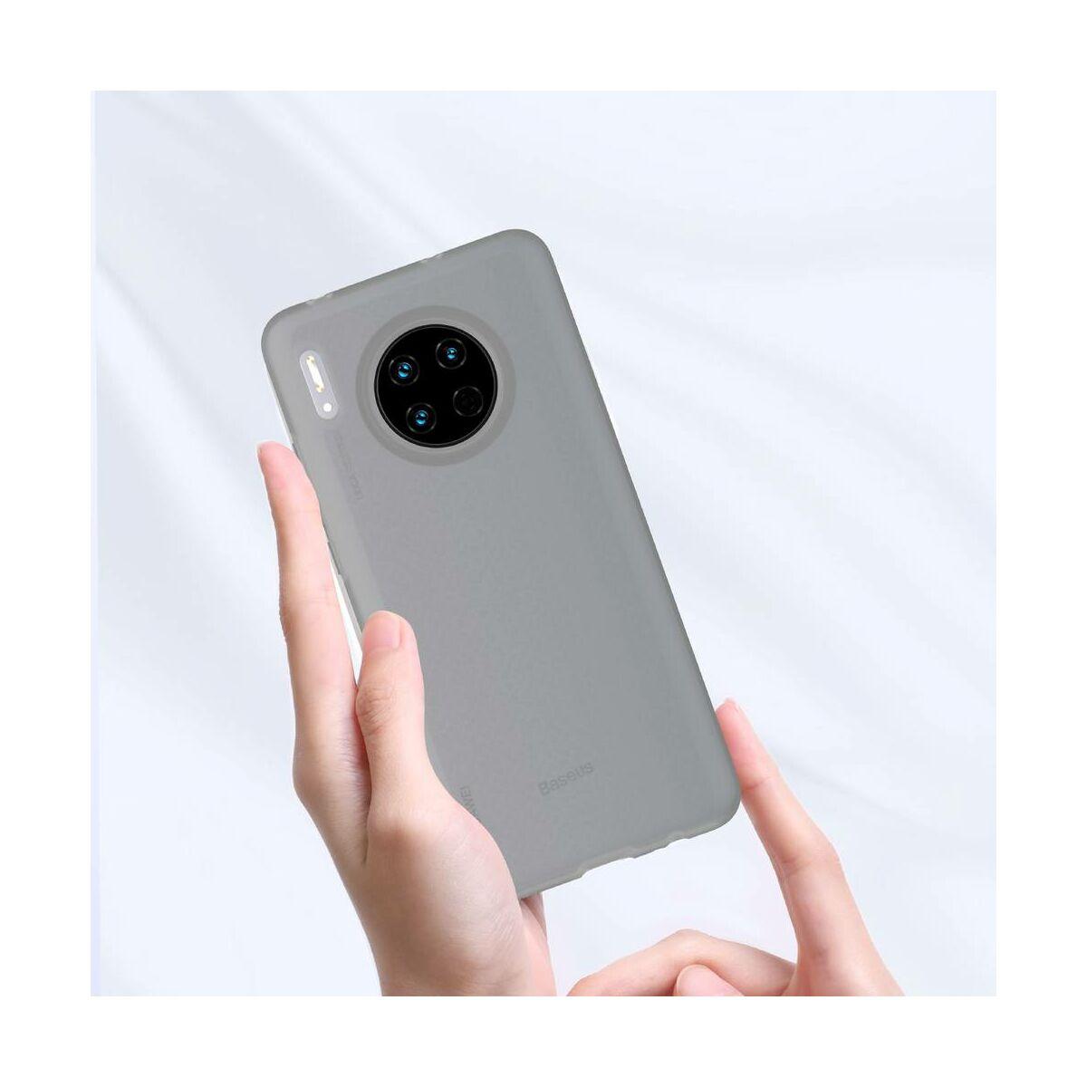 Baseus Huawei Mate 30 tok, Jelly Liquid Silica Gel, átlátszó fekete (WIHWMATE30-GD01)