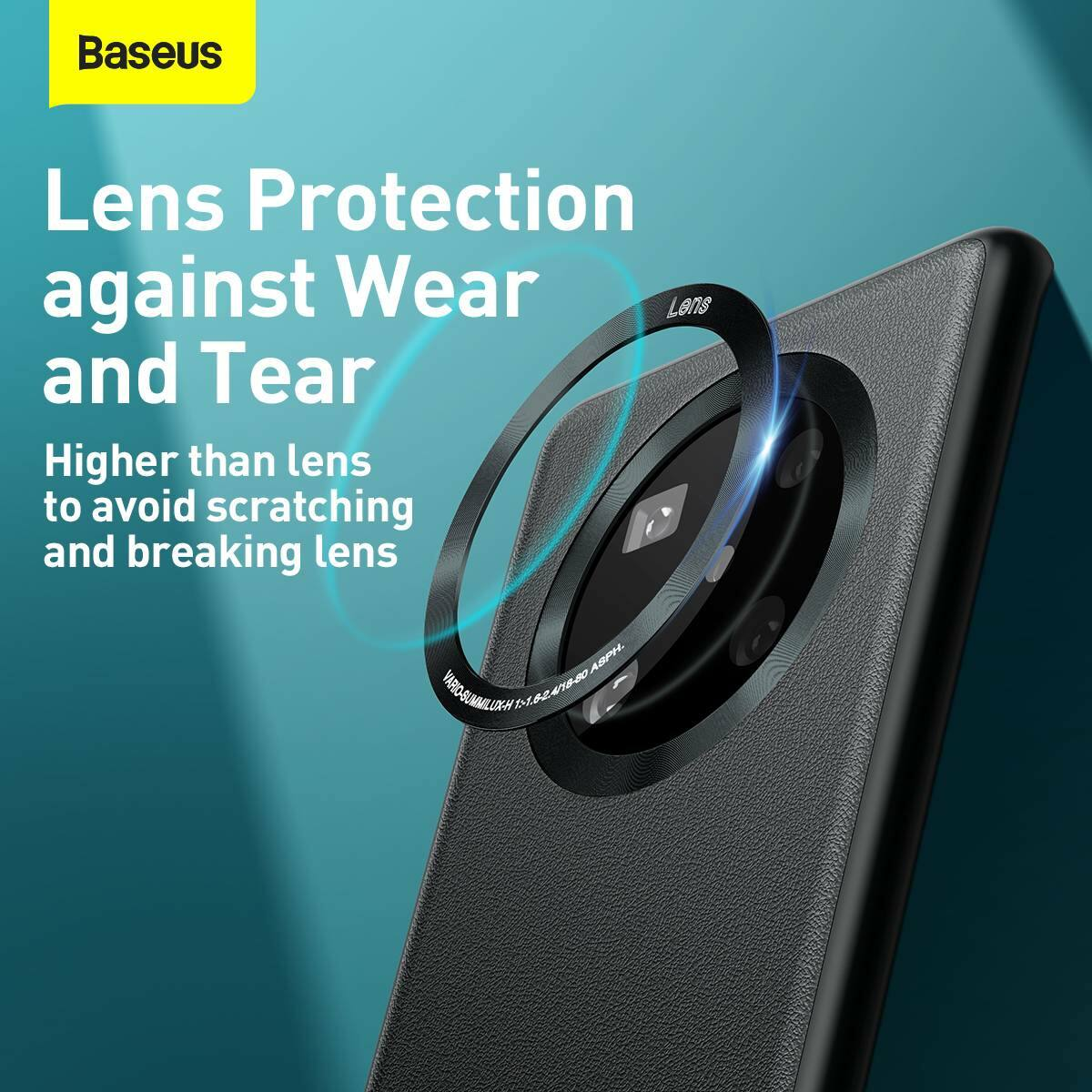 Baseus Huawei Mate 40 Pro tok, Alloy Leather, fekete (WIHWMATE40P-A01)