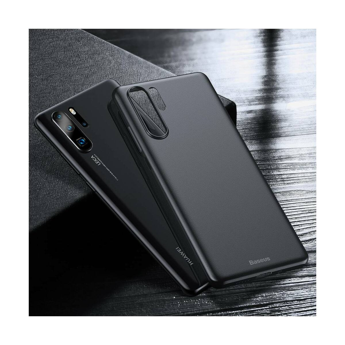 Baseus Huawei P30 Pro tok, Wing, fekete (WIHWP30P-A01)