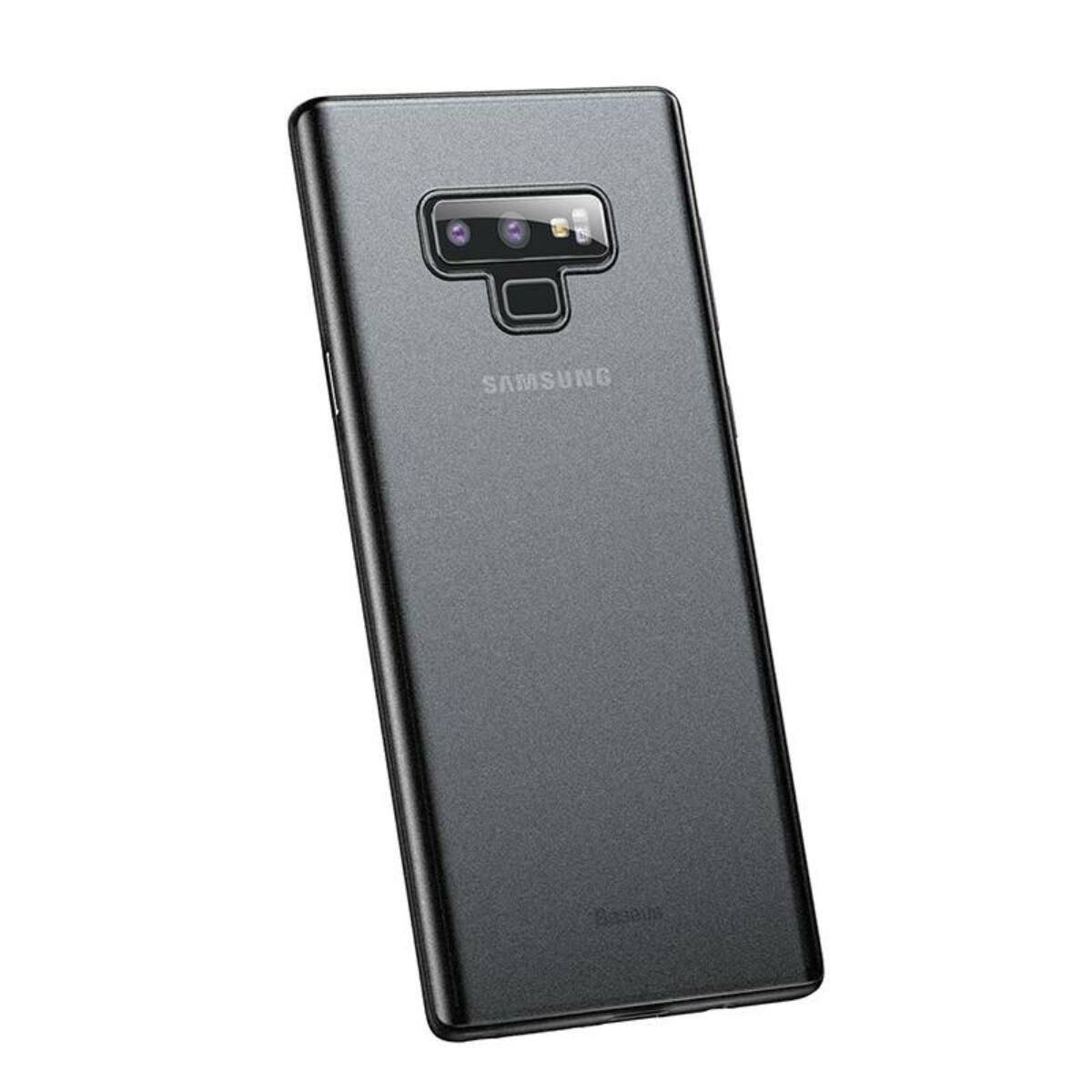 Baseus Samsung Note 9 tok, Wing, átlátszó, fekete (WISANOTE9-E01)