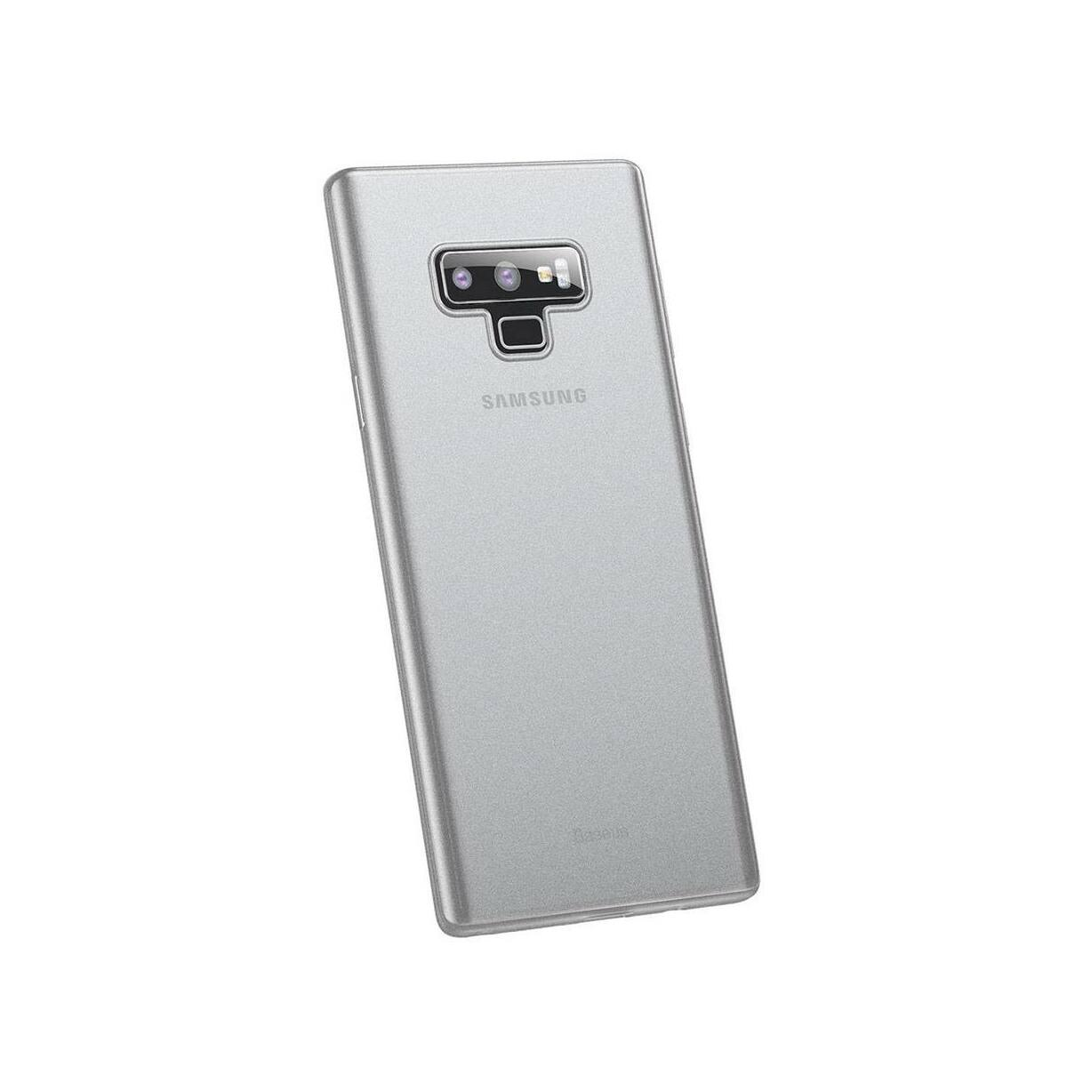 Baseus Samsung Note 9 tok, Wing, átlátszó, fehér (WISANOTE9-E02)