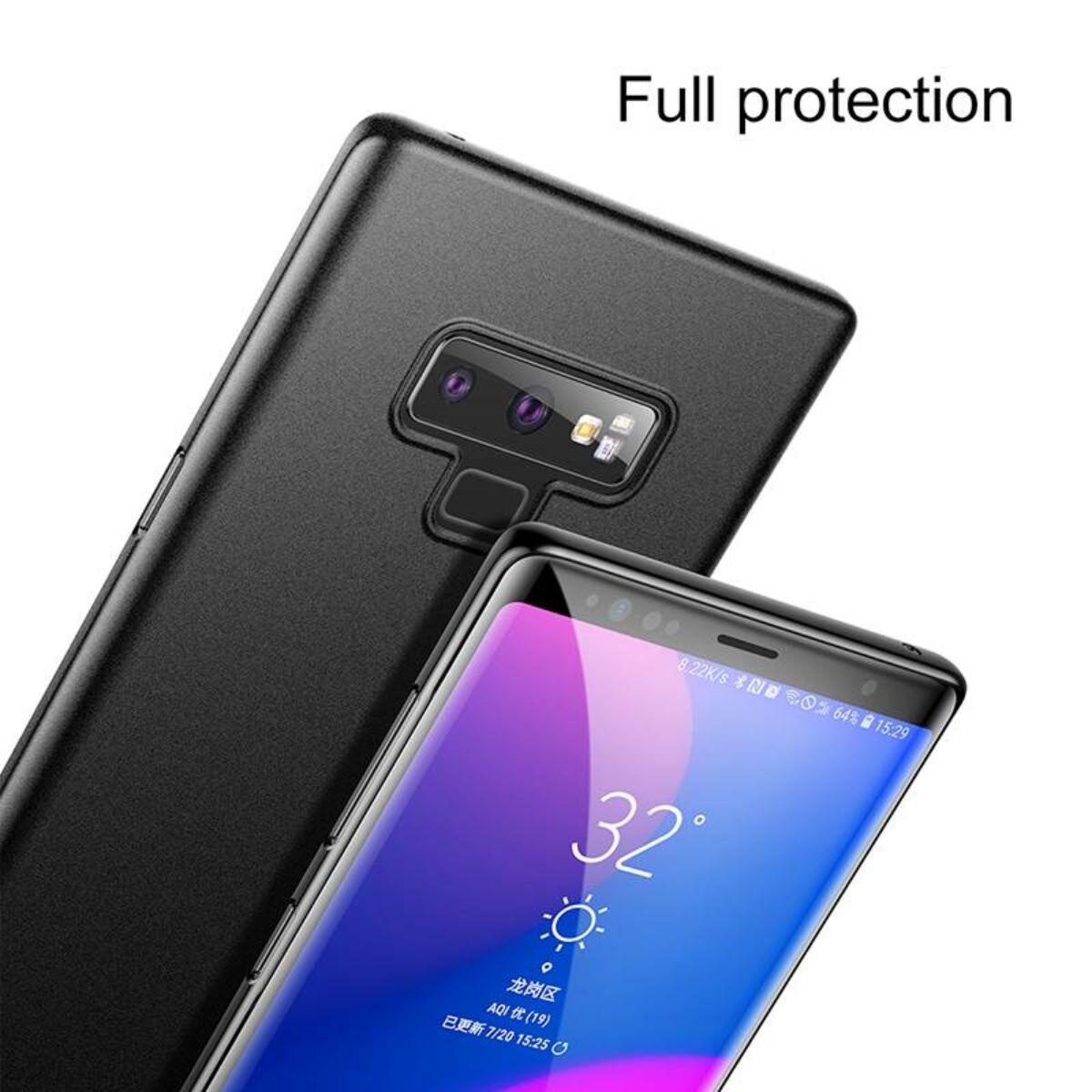 Baseus Samsung Note 9 tok, Wing, fekete (WISANOTE9-EA1)