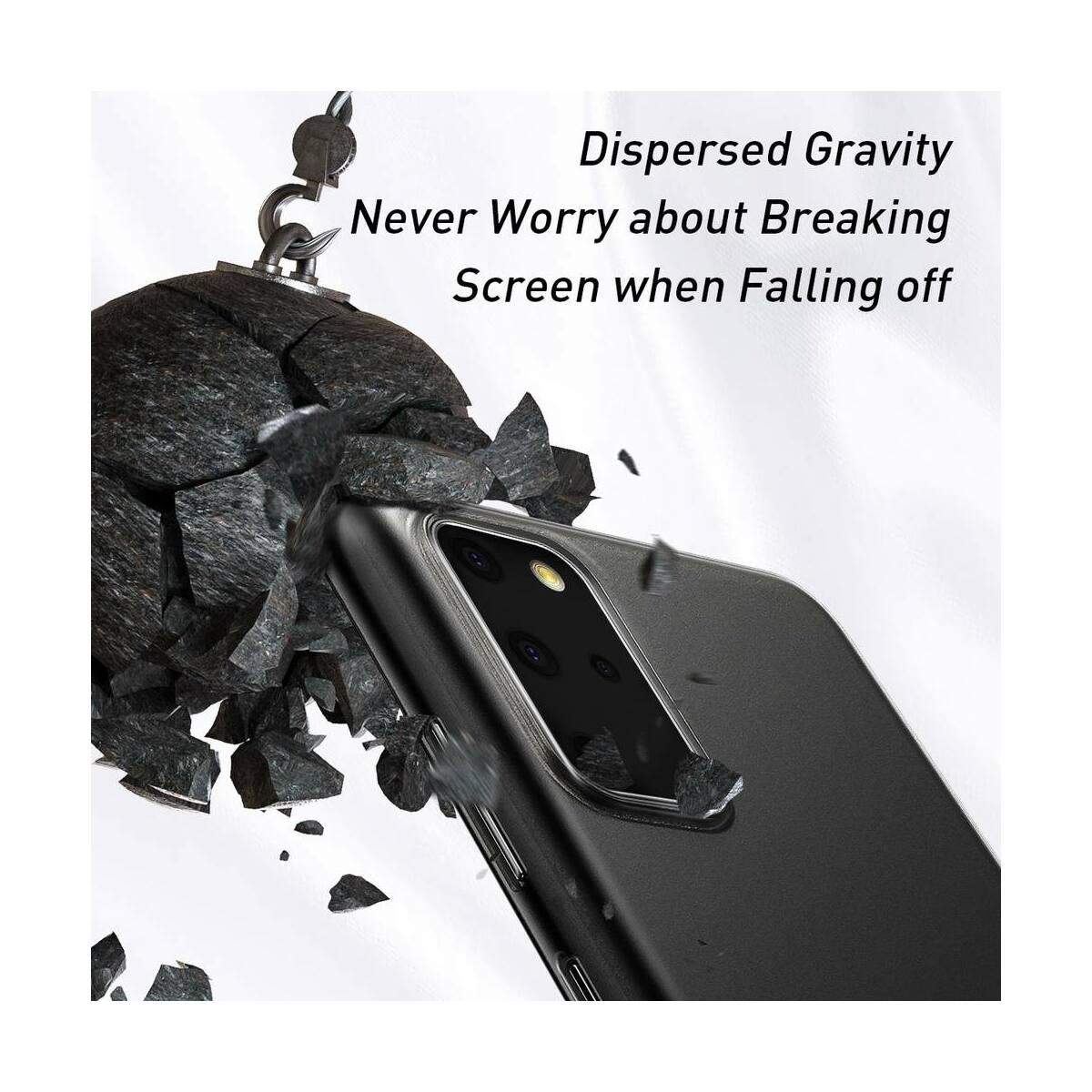 Baseus Samsung S20 Plus tok, Wing, fekete (WISAS20P-01)
