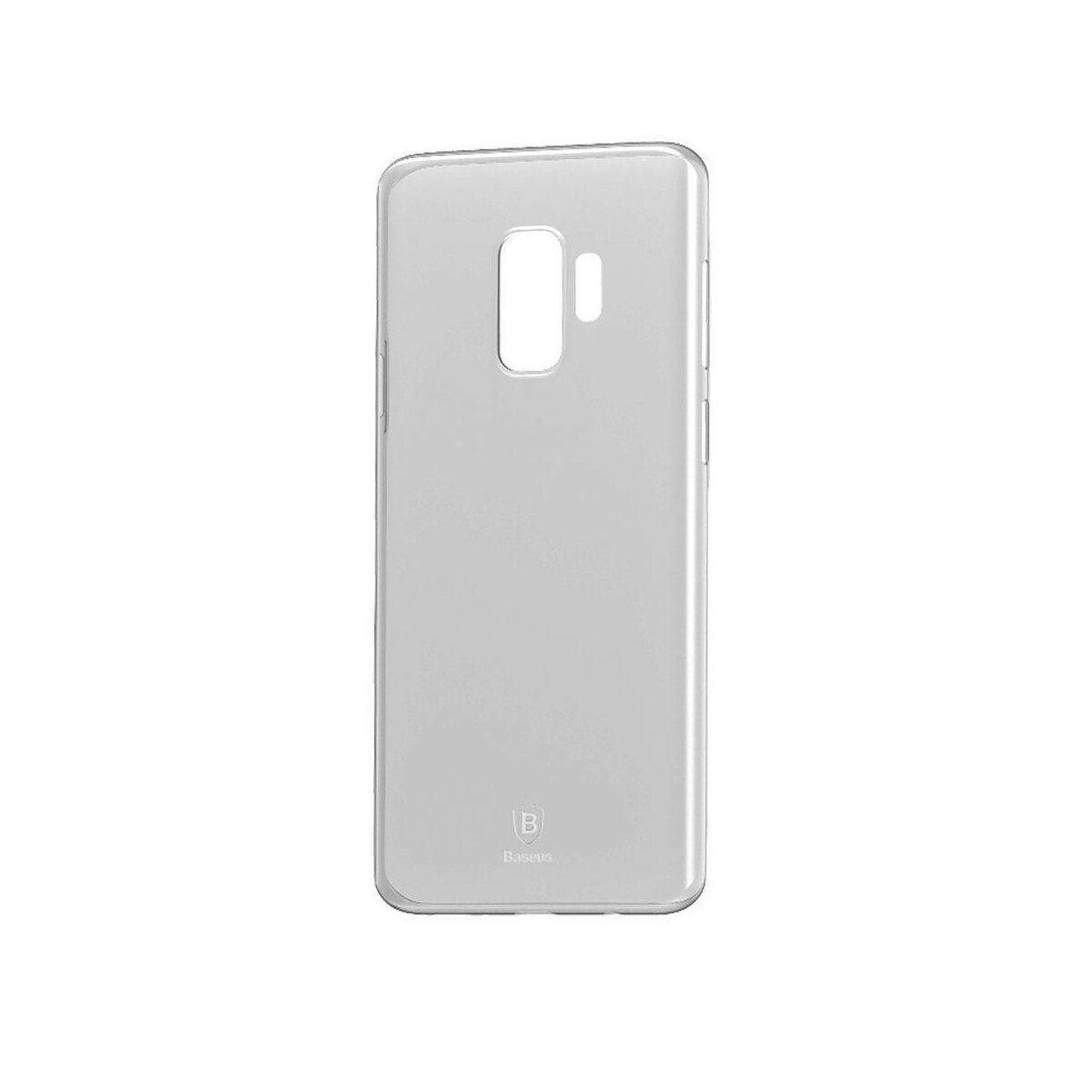 Baseus Samsung S9 tok, Wing, átlátszó, fehér (WISAS9-02)