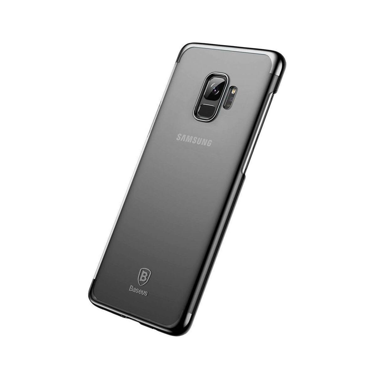 Baseus Samsung S9 tok, Glitter, fekete (WISAS9-DW01)