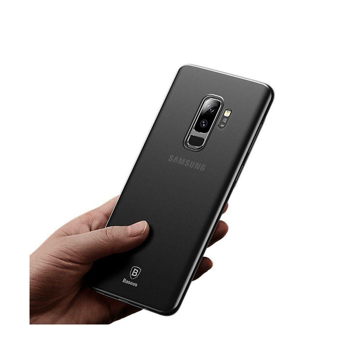 Baseus Samsung S9 Plus tok, Wing, átlátszó, fekete (WISAS9P-01)