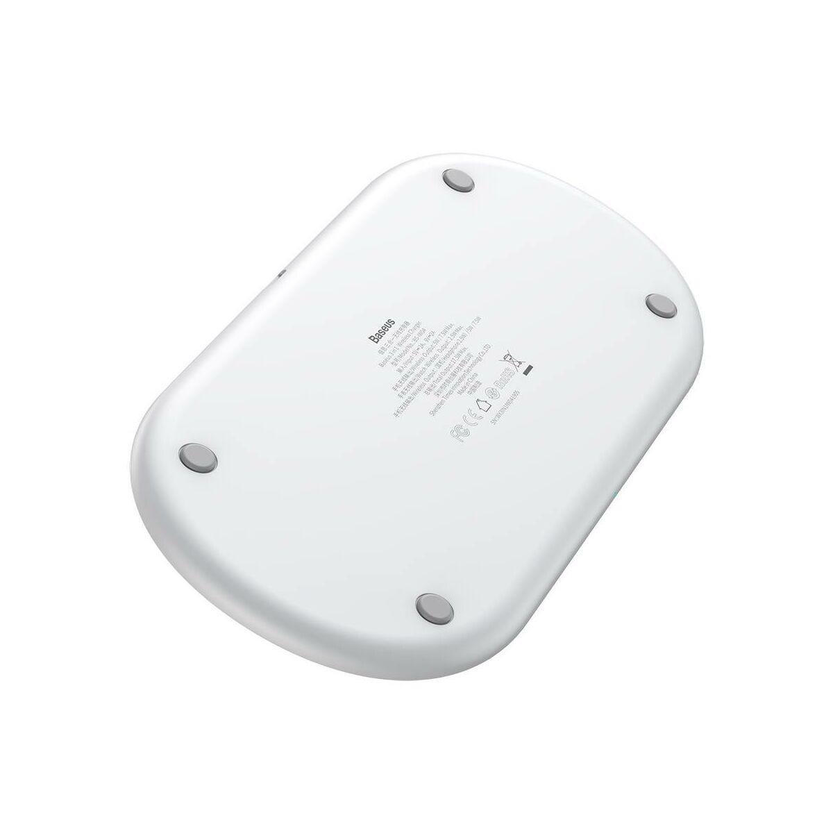 Baseus vezetéknelküli okos töltő 3-in-1, okostelefon, Apple Watch és iPod 18W, fehér (WX3IN1-C02)