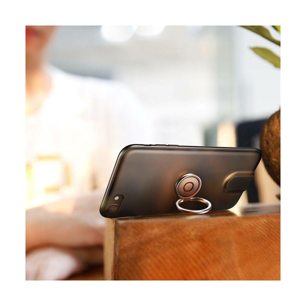 Baseus iPhone 8/7 tok, Mágneses, multifunkcionális, vezeték nélküli töltés támogatással, fekete (WXAPIPH8N-01)