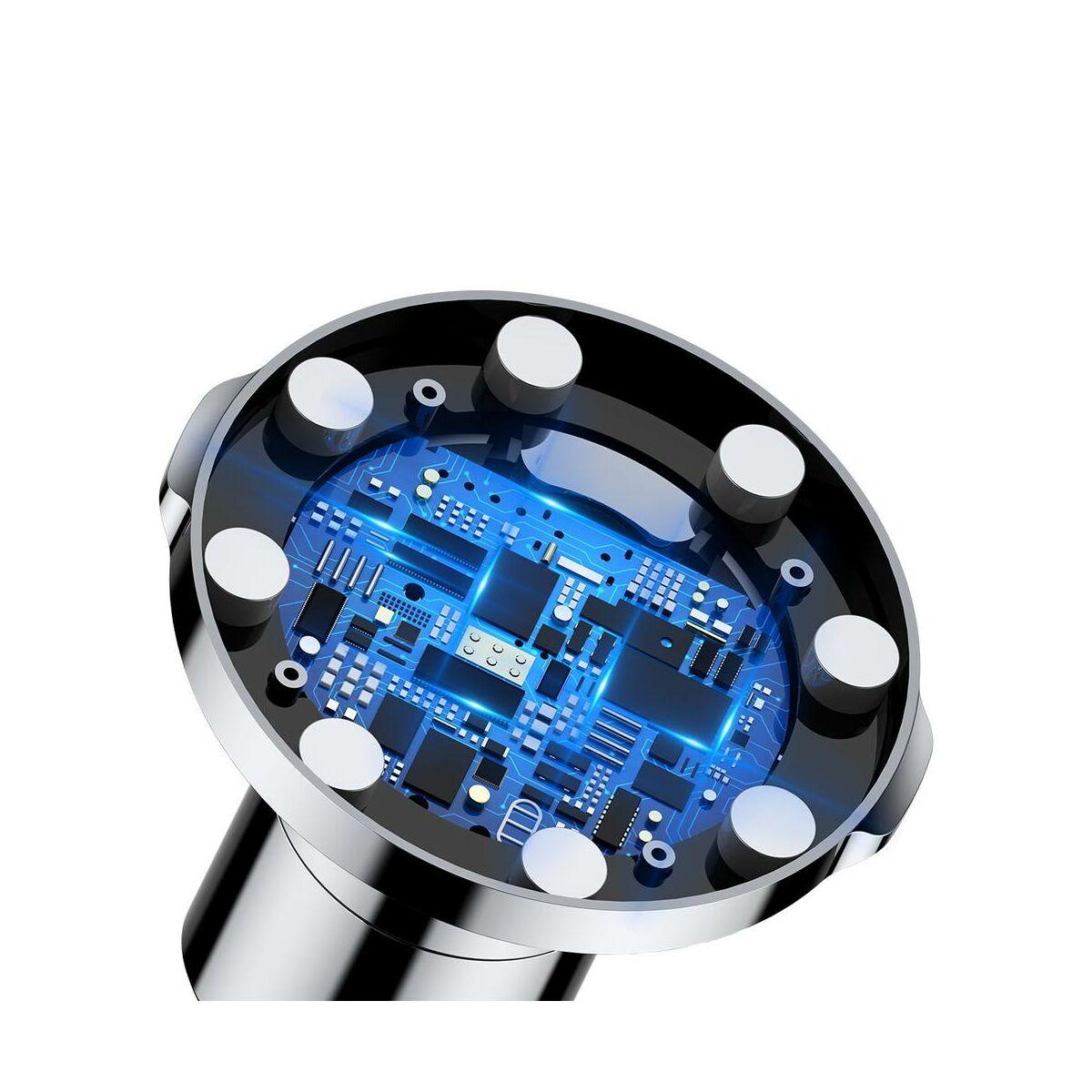 Baseus autós telefontartó, vezeték nélküli töltő Big Ears, műszerfalra/szellőzőre, fekete (WXER-01)