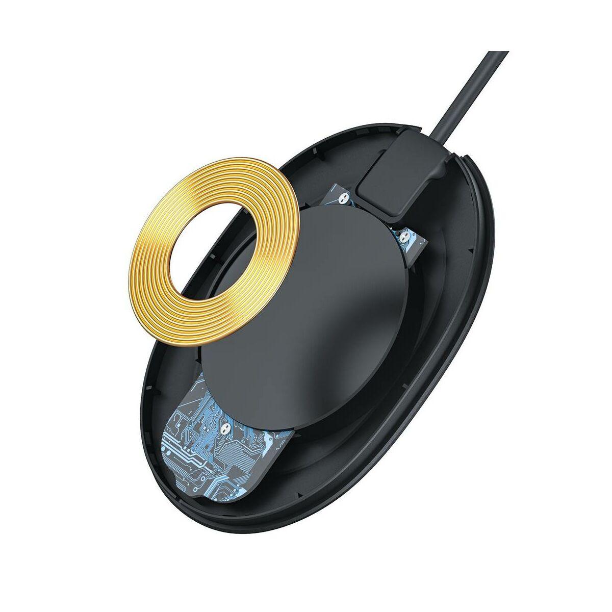 Baseus vezeték nelküli töltő Jelly QC 3.0, 15W, fekete (WXGD-01)
