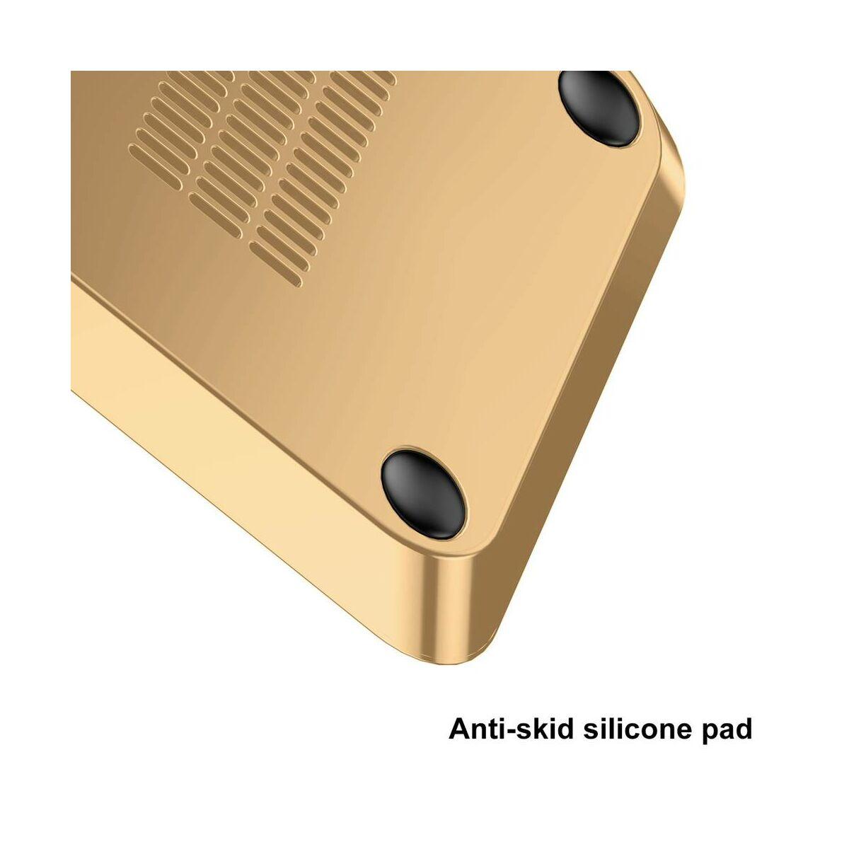 Baseus vezeték nélküli töltő, asztali tartóval + Type-C kábel, 10W, arany (WXHSD-0V)