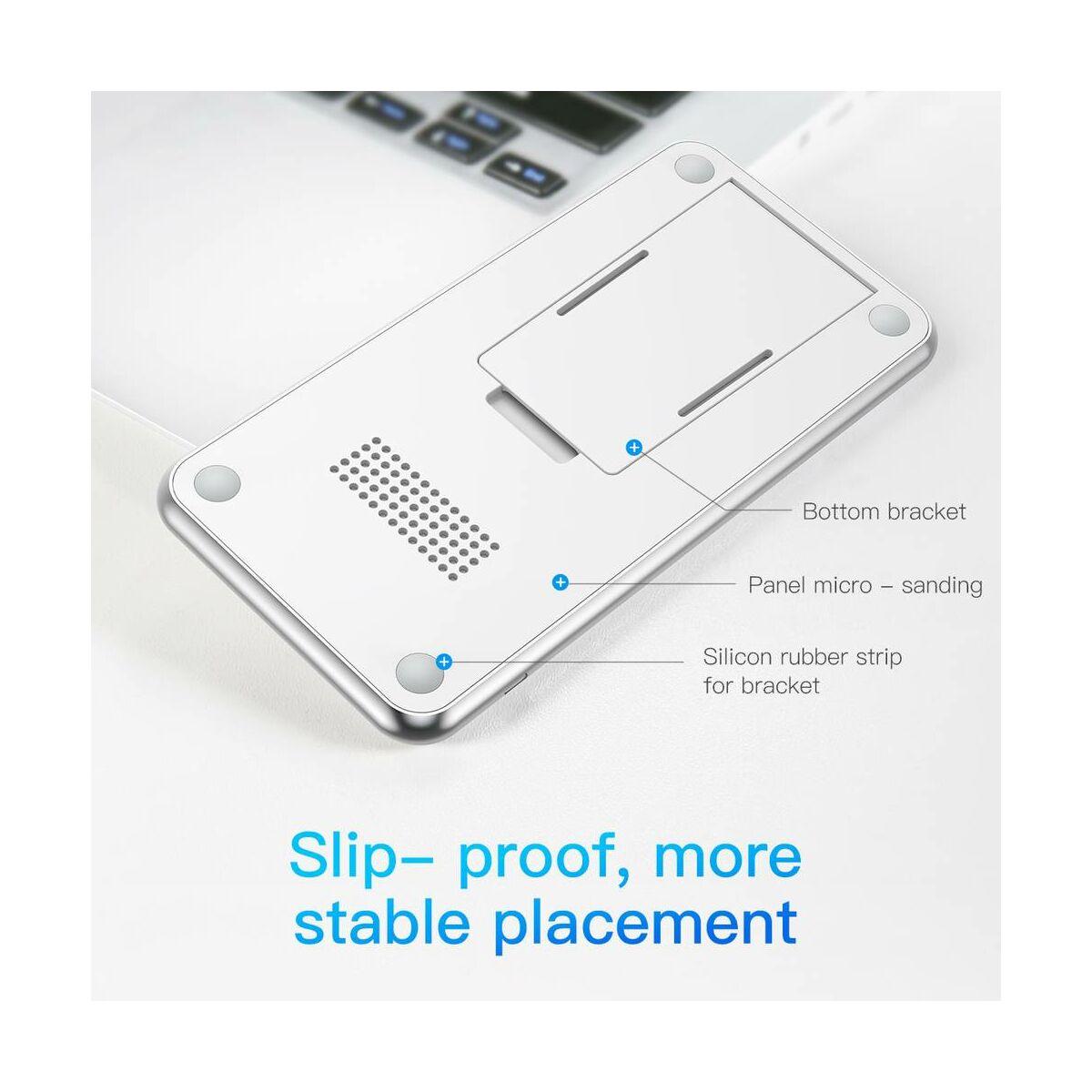 Baseus vezeték nélküli töltő, 3 töltőkörös (asztali tartóval) 10W, fehér (WXHSD-B02)
