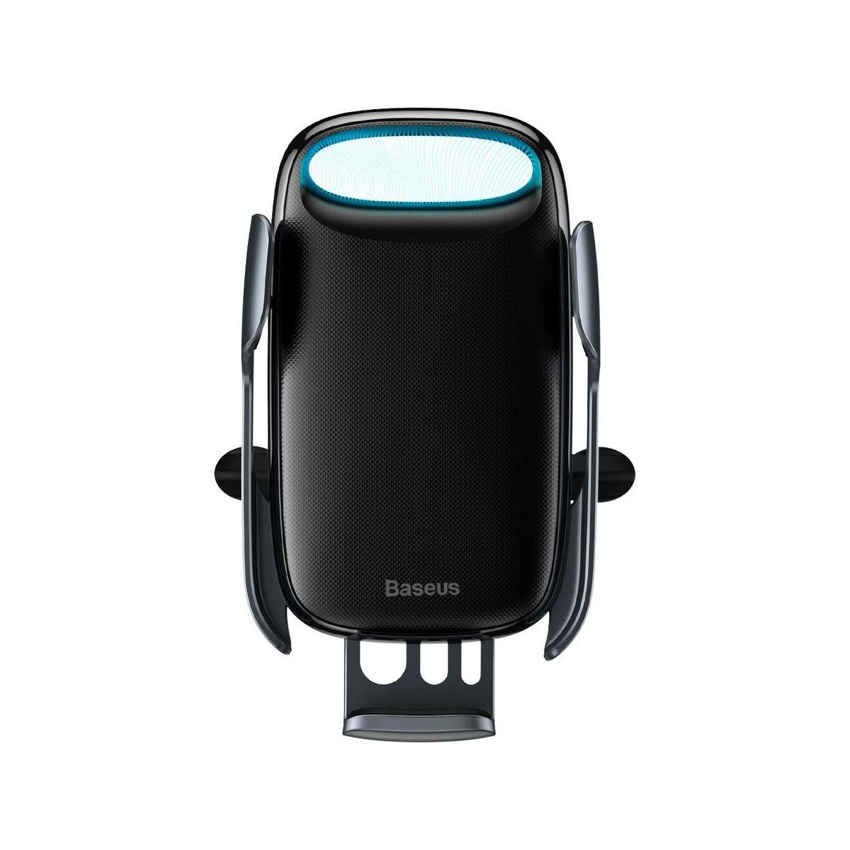 Baseus autós telefon tartó, Milky Way Aurora elektromos automata szenzoros nyitás, vezeték nélküli töltés, 15W, fekete (WXHW02-01)