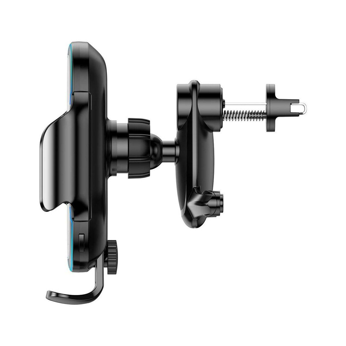 Baseus autós telefon tartó, vezeték nélküli töltő, Light Electric elektromos nyitás, automata infra szenzoros zárás, 15W, fekete (WXHW03-01)