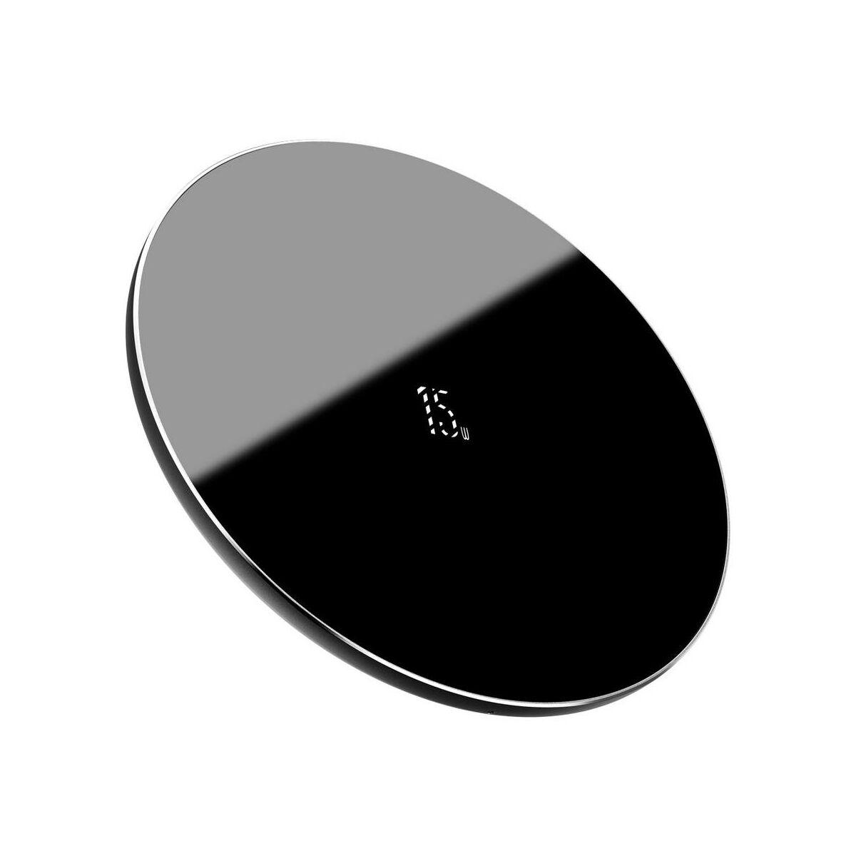 Baseus vezeték nélküli töltő, Simple 2-in-1 frisített verzió, telefon + AirPods, 15W, fekete (WXJK-B01)