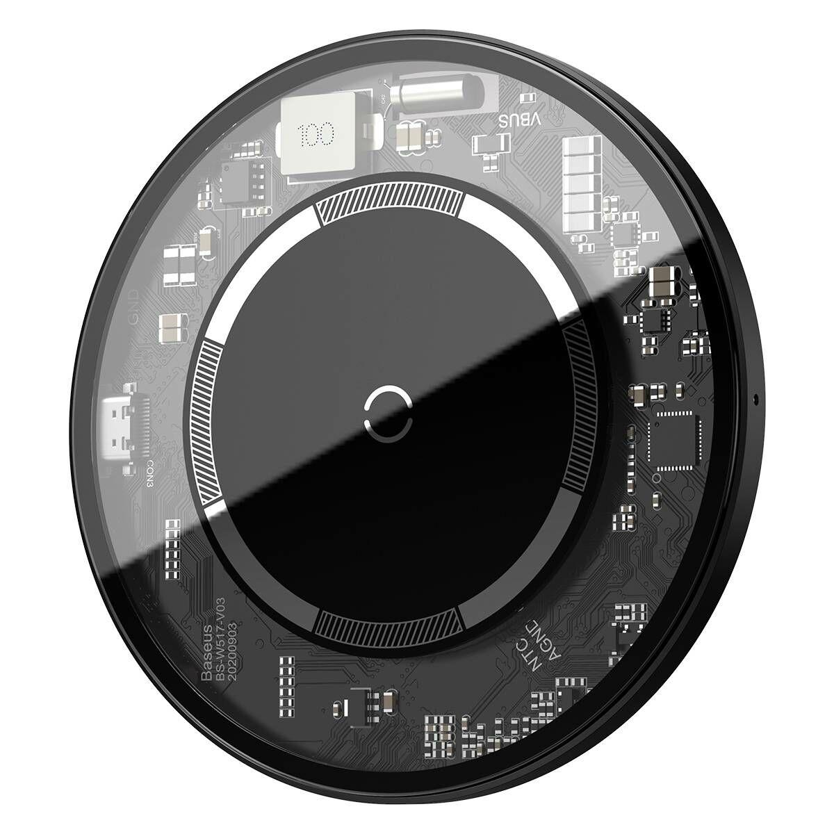 Baseus vezeték nélküli töltő, Simple Magnetic, iPhone 12 modellhez, 15W, fehér (WXJK-E02)