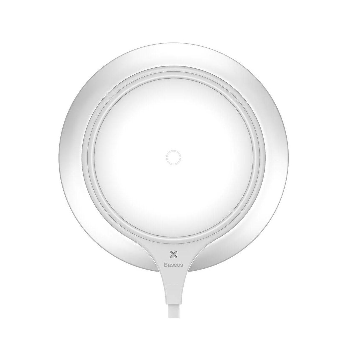 Baseus vezeték nélküli töltő, Metal 10W, ezüst/fehér (WXJS-S2)