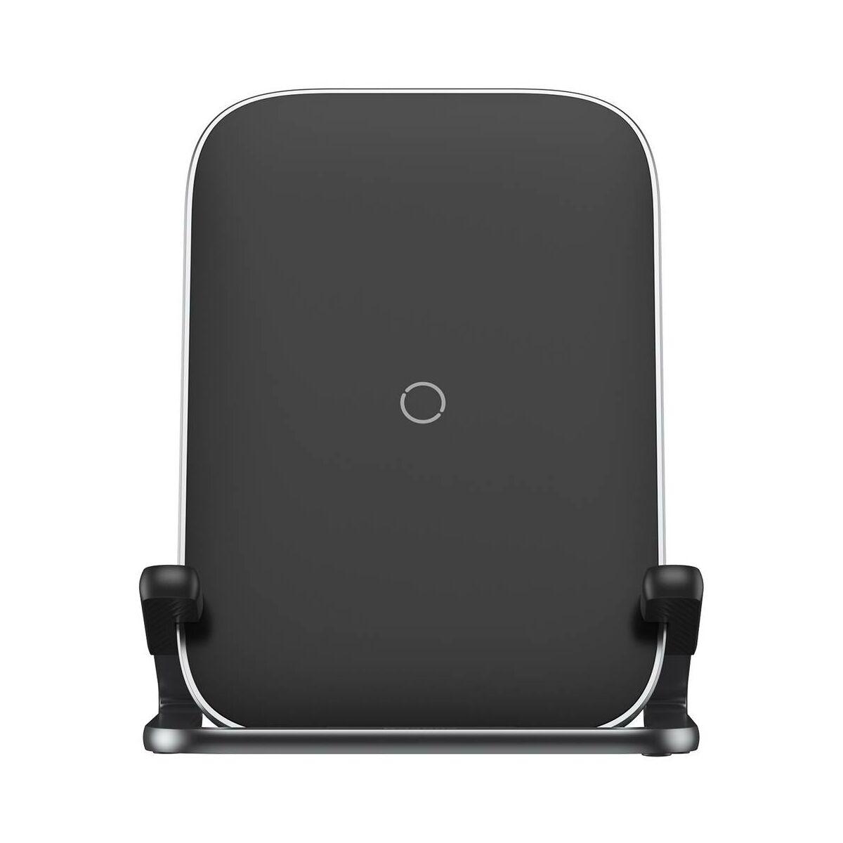 Baseus vezeték nélküli töltő, Cobble Rib változtatható telefon töltési pozícióval (fekvő és álló) 15W, fekete (WXPG-01)