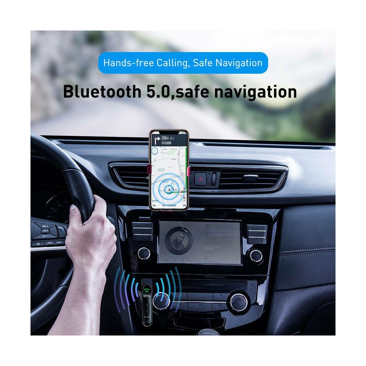 Baseus autós kiegészítő, Bluetooth Qiyin direkt AUX csatlakozóval, fekete (WXQY-01)