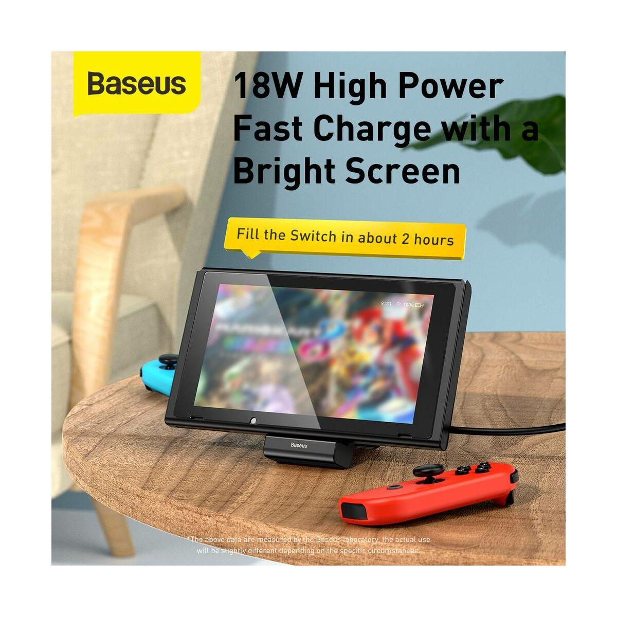 Baseus játék eszköz, Nintendo Switch állítható töltő állvány GS10, fekete (WXSWGS10-01)