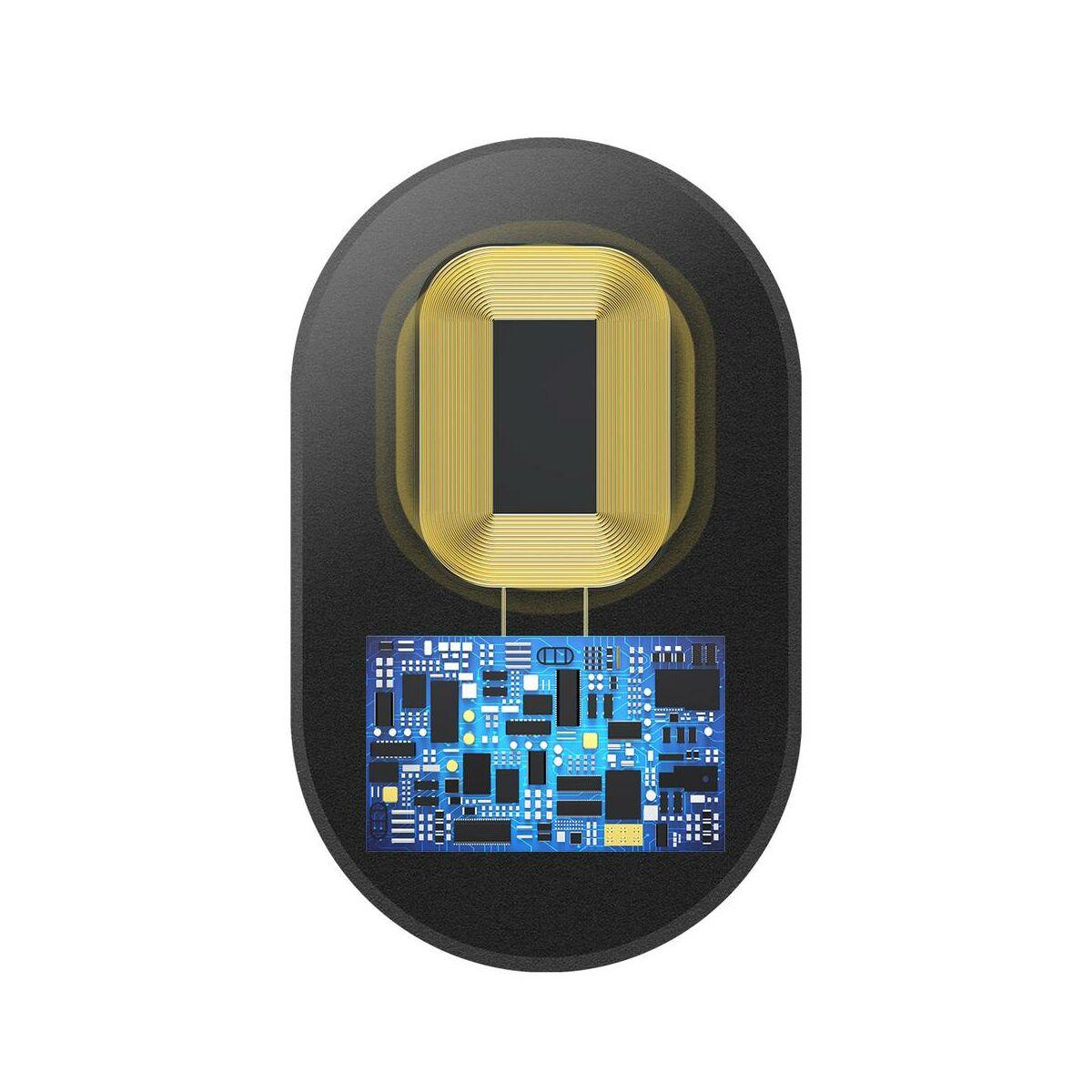 Baseus vezeték nélküli töltés felvevő, mikroszálas (Lightning), fekete (WXTE-A01)