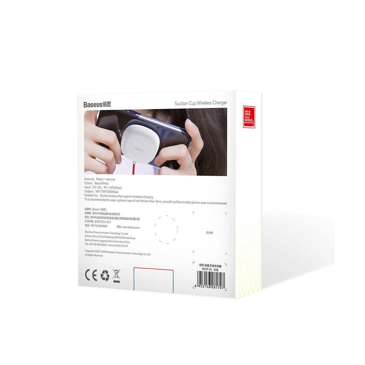 Baseus vezeték nélküli töltő, Cup 10W, fehér (WXXP-02)