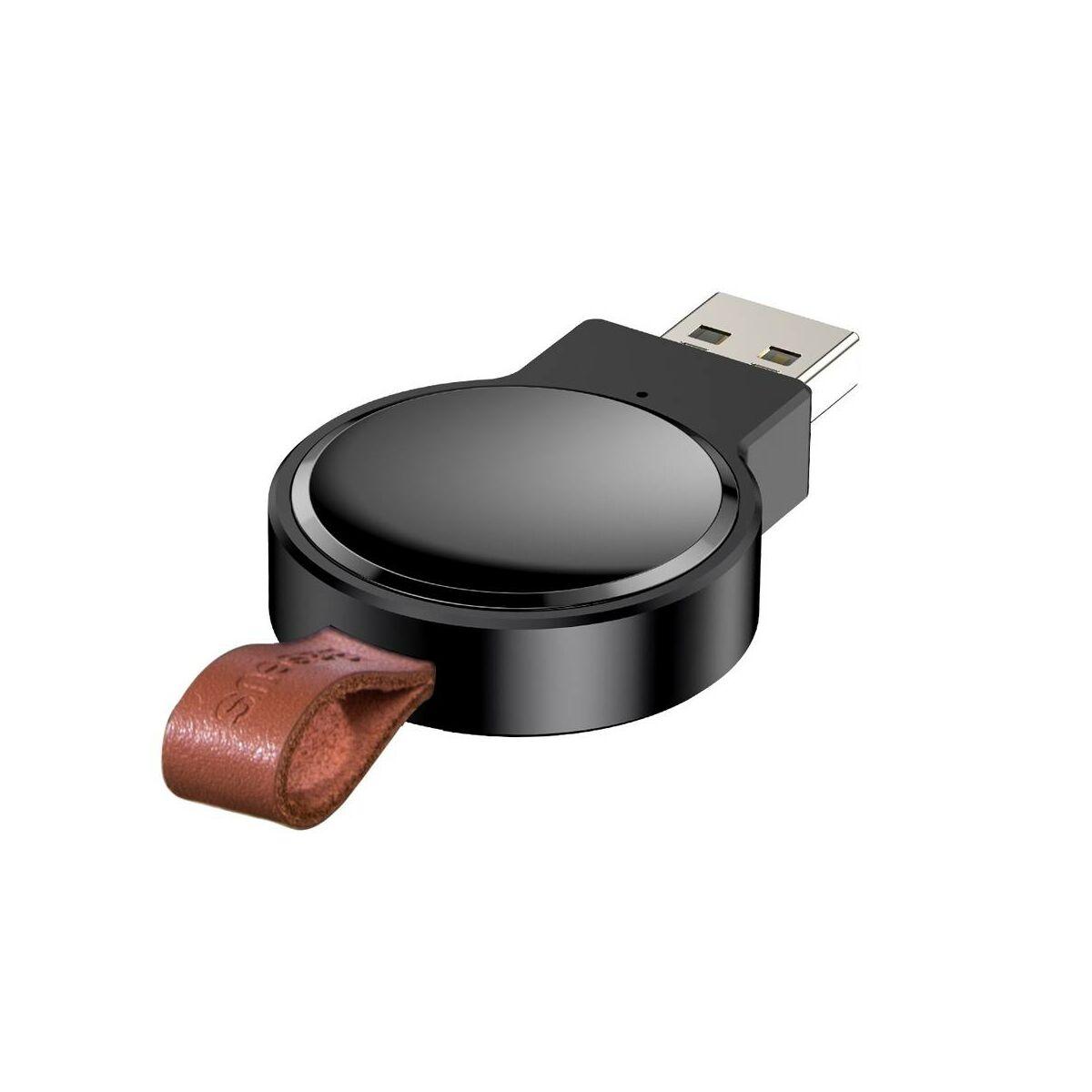 Baseus vezeték nélküli töltő, Dotter Apple Watch modellekhez, fekete (WXYDIW02-01)