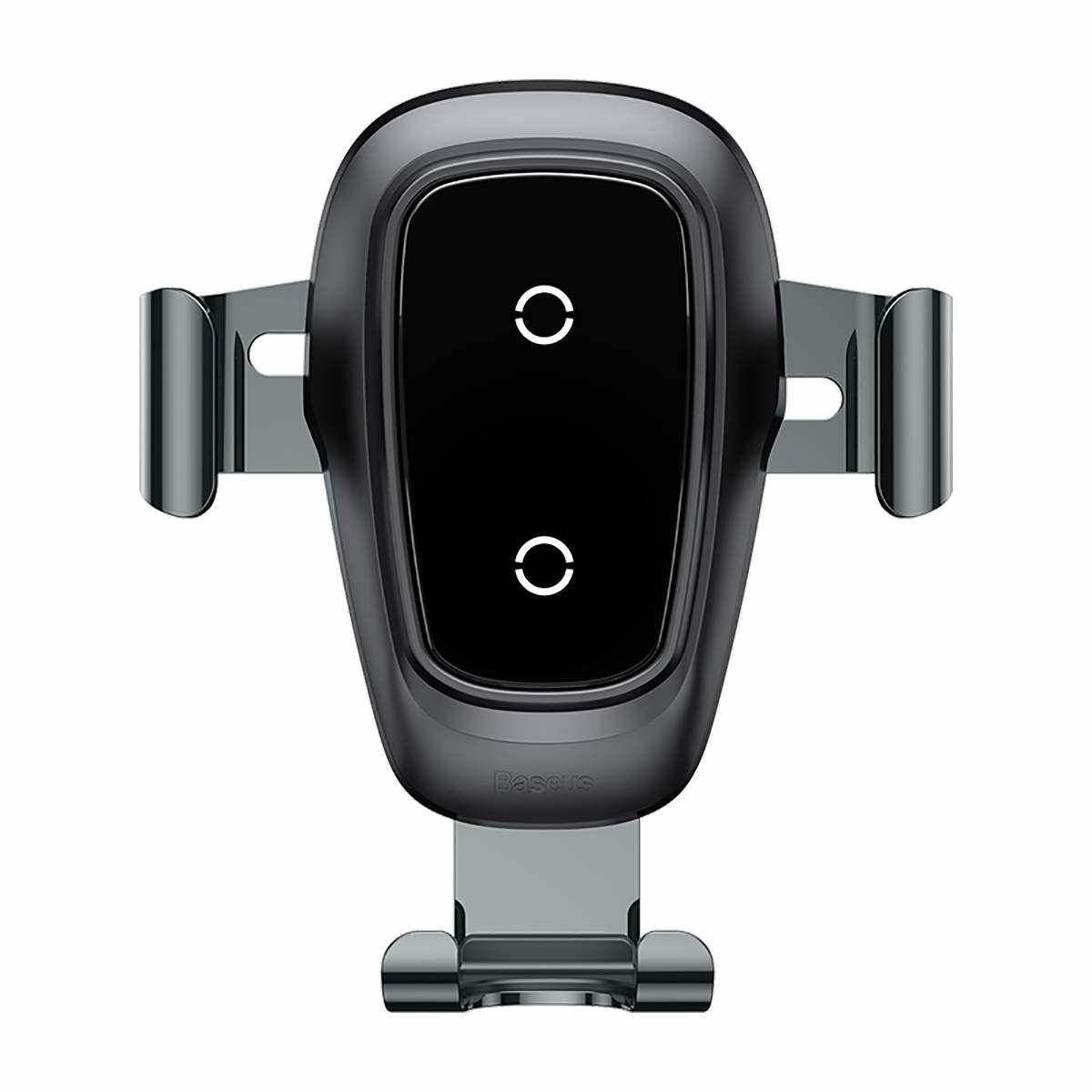 Baseus autós telefon tartó, vezeték nélküli töltő Gravity, fekete (WXYL-B0A)