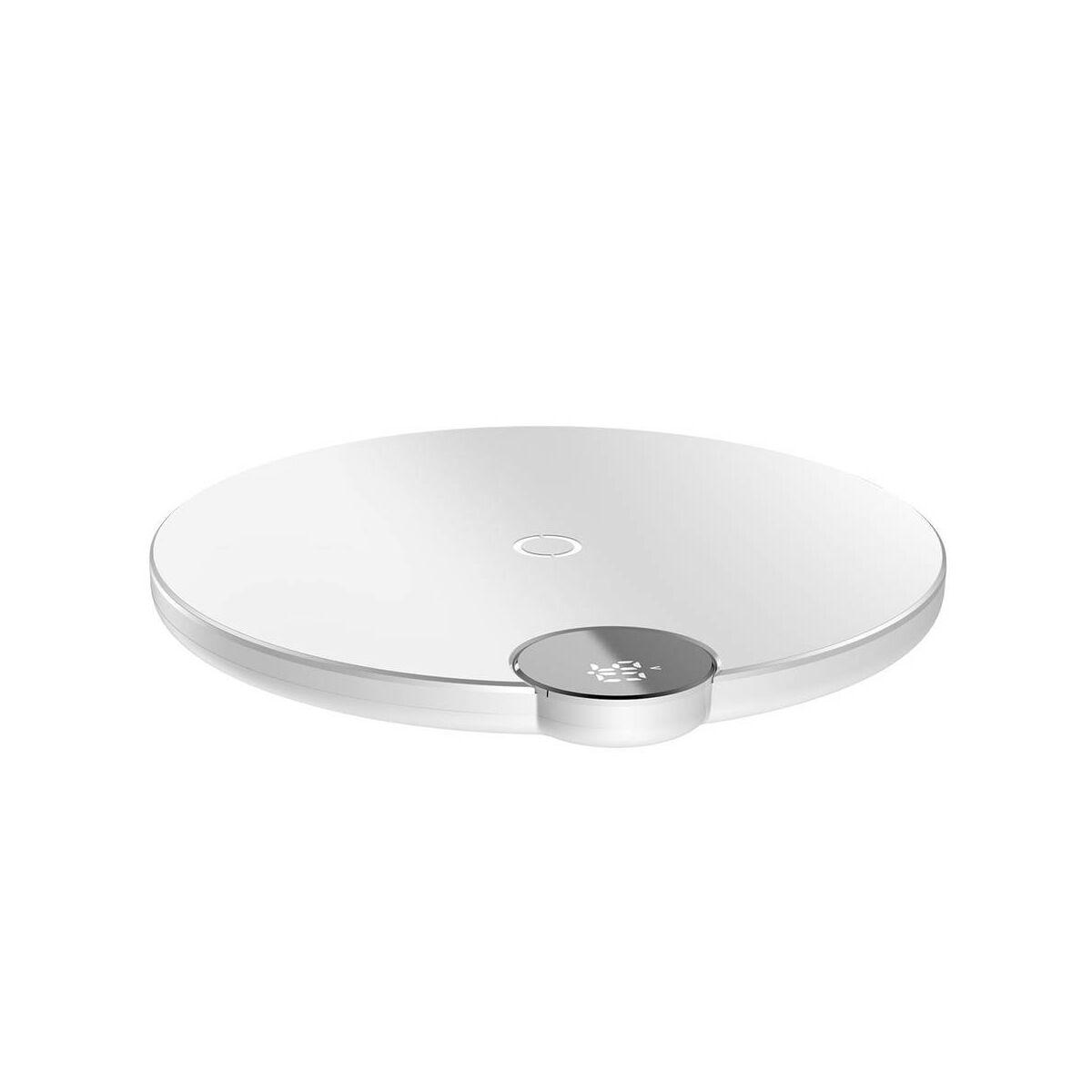 Baseus vezeték nélküli töltő, digitális LED kijelző 10W, fehér (WXsX-02)