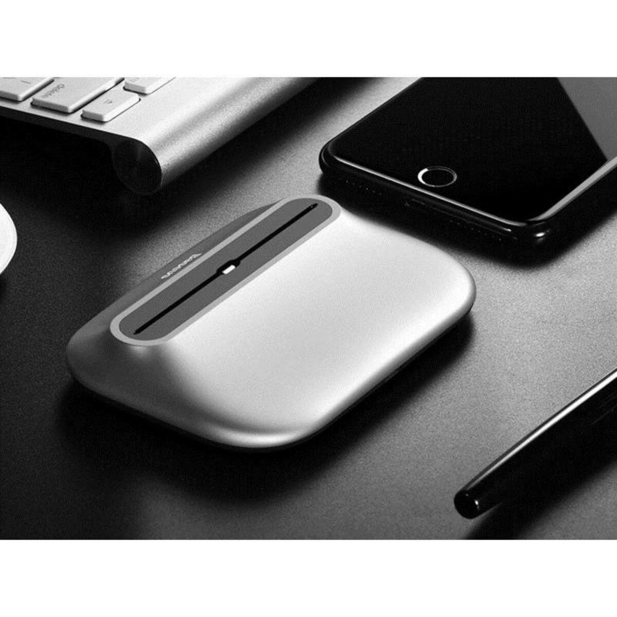 Baseus Little Volcano asztali dokkoló Lightning, USB kábel, 1m, ezüst (ZCVL-0S)
