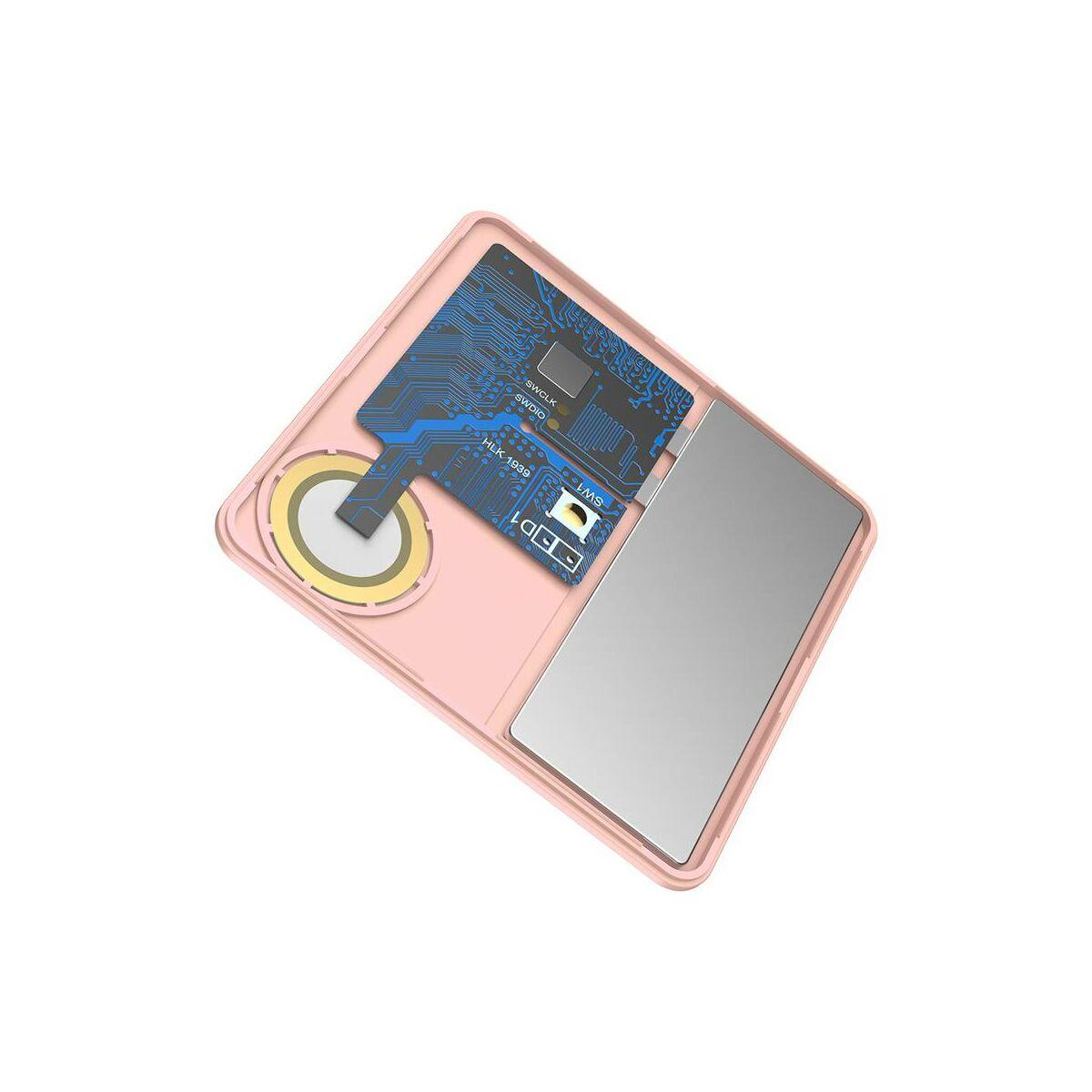 Baseus otthon, Intelligens T1 mini lapos kártya forma, elveszett eszközök/kulcsok megtalálásához eszköz és detektor, rózsaszín (ZLFDQT1-04)