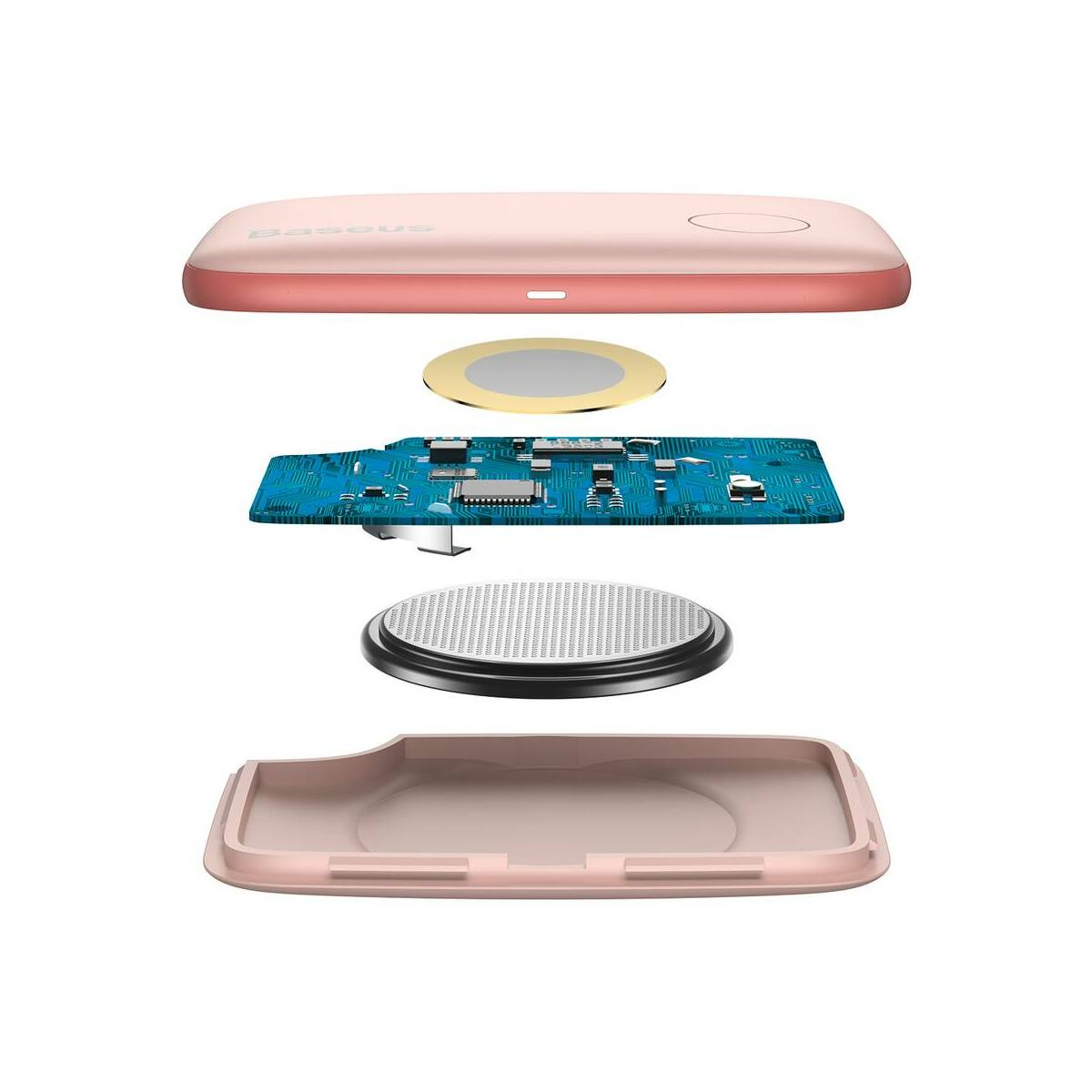 Baseus otthon, Intelligent T2 mini kötél forma, elveszett eszközök/kulcsok megtalálásához eszköz és detektor, rózsaszín (ZLFDQT2-04)