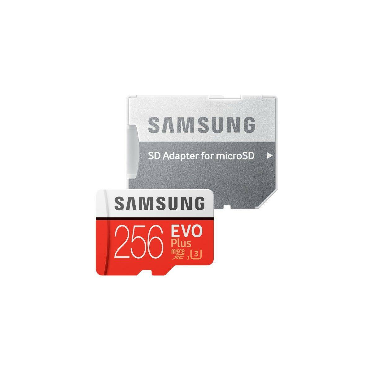 Samsung MicroSD Card EVO+ 256GB Class10 + Adapter MB-MC256HAEU