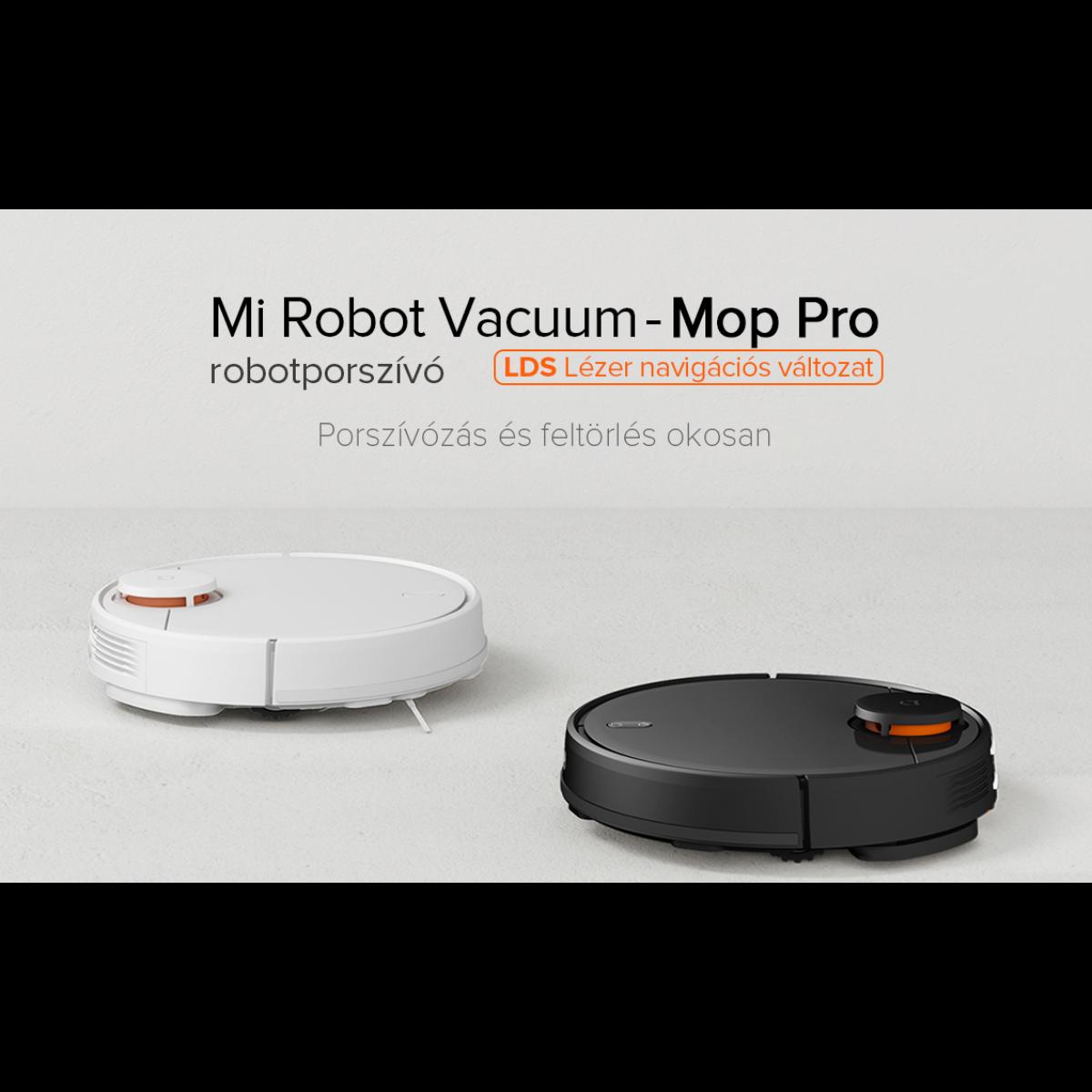 Xiaomi Mi Robot Vacuum Mop Pro, robotporszívó, felmosó funkcióval, fehér EU, SKV4110GL