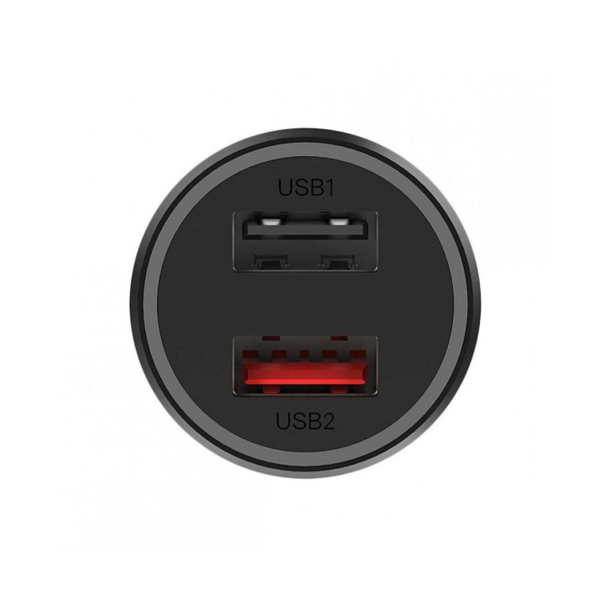 Xiaomi Mi autós töltő 37W Dual USB fekete EU