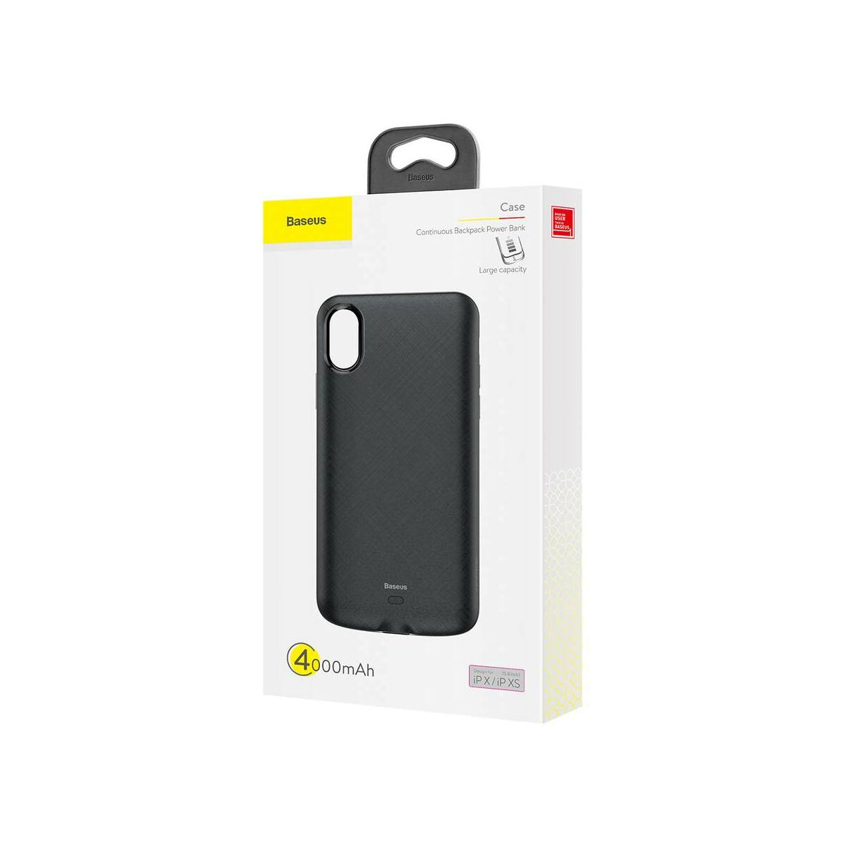 Baseus Power Bank tok, Continuous Backpack 4000 mAh iPhone XS, fekete (ACAPIPH58-BJ01)