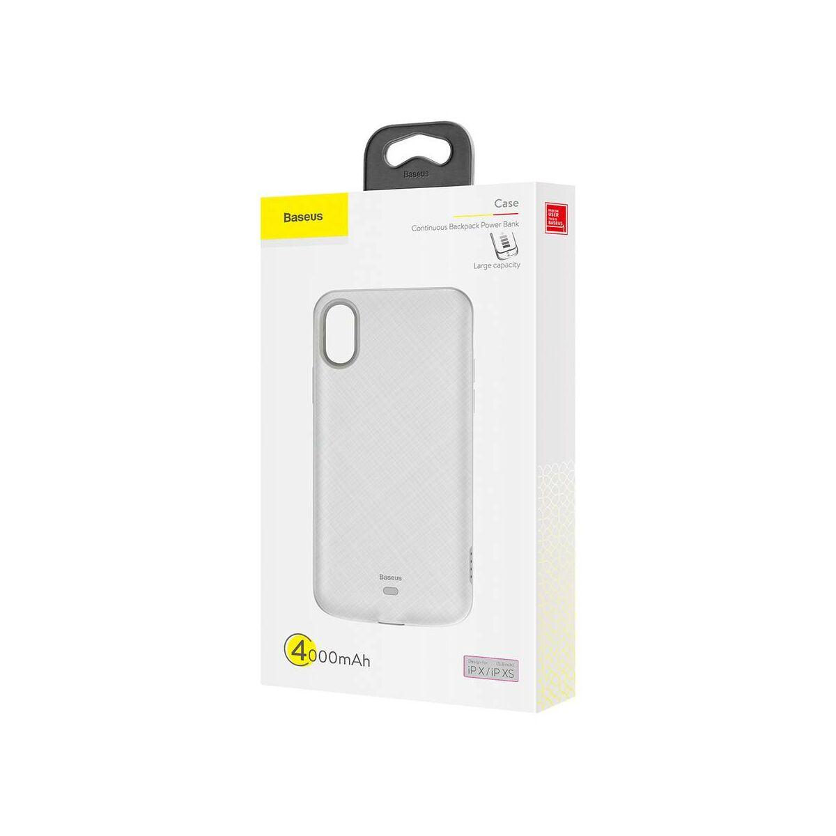 Baseus Power Bank tok, Continuous Backpack 4000 mAh iPhone XS, fehér (ACAPIPH58-BJ02)